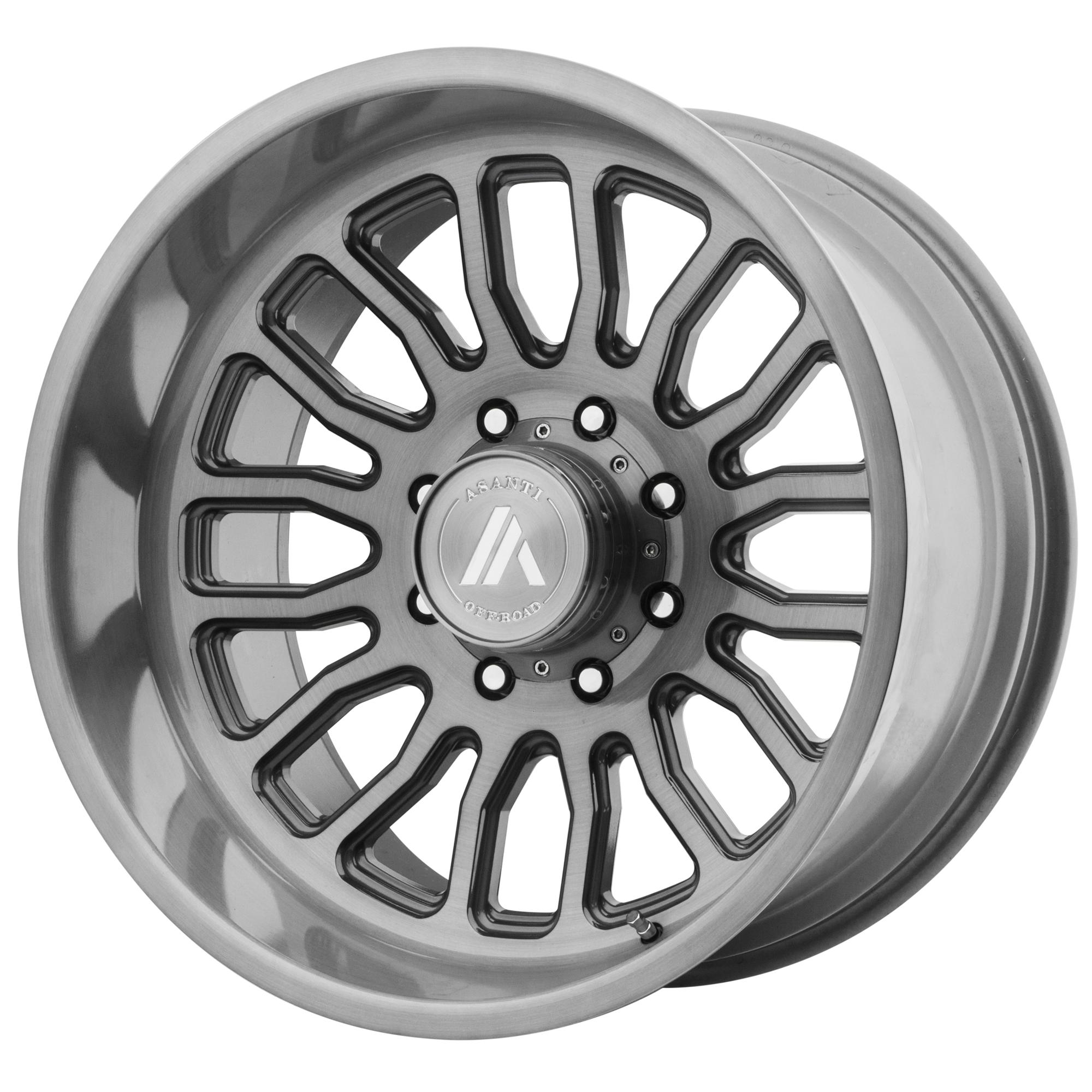 ASANTI OFF ROAD AB815 WORKHORSE hliníkové disky 10x20 5x127 ET-12 Titanium-Brushed