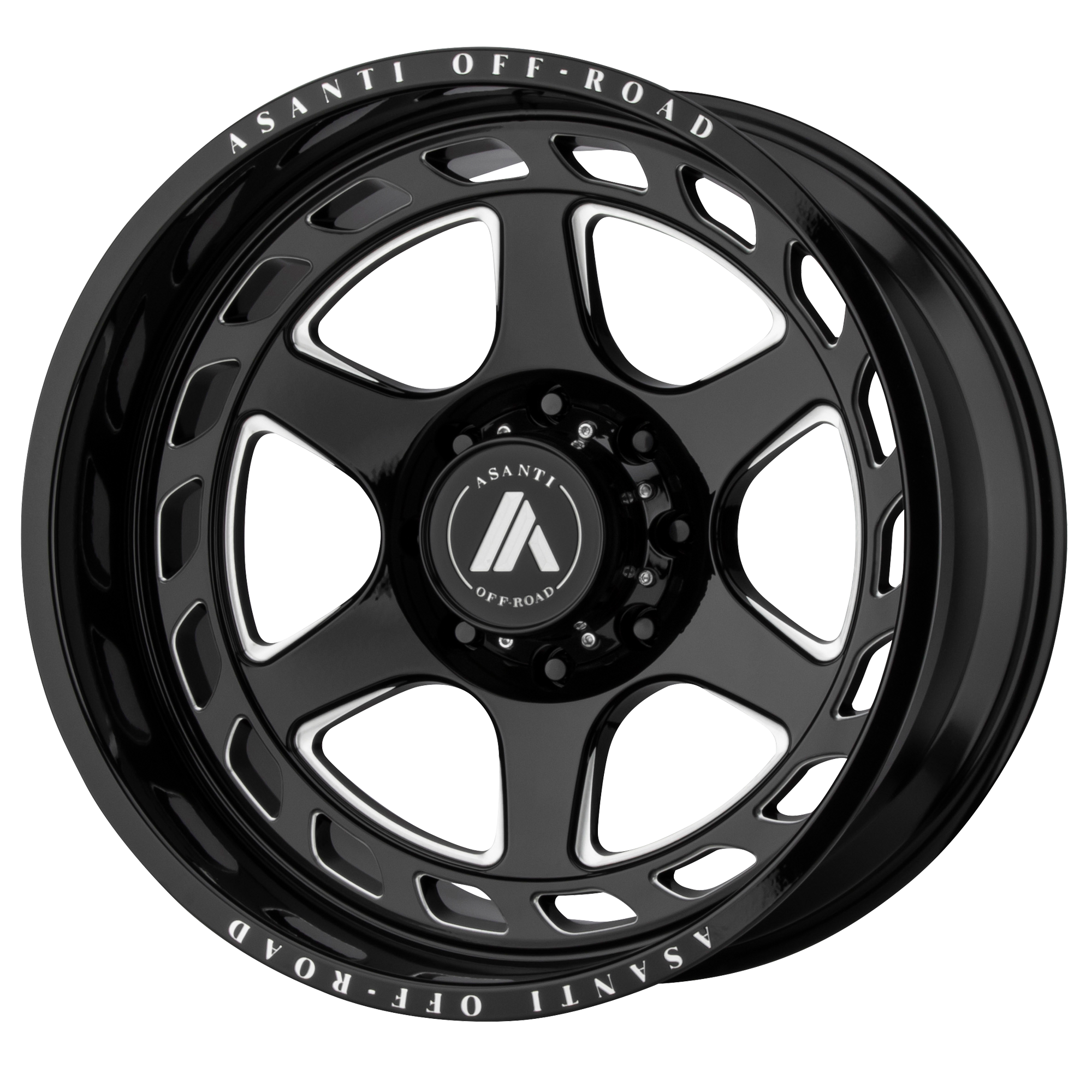 ASANTI OFF ROAD AB816 ANVIL hliníkové disky 10x22 8x170 ET-18 Gloss Black Milled