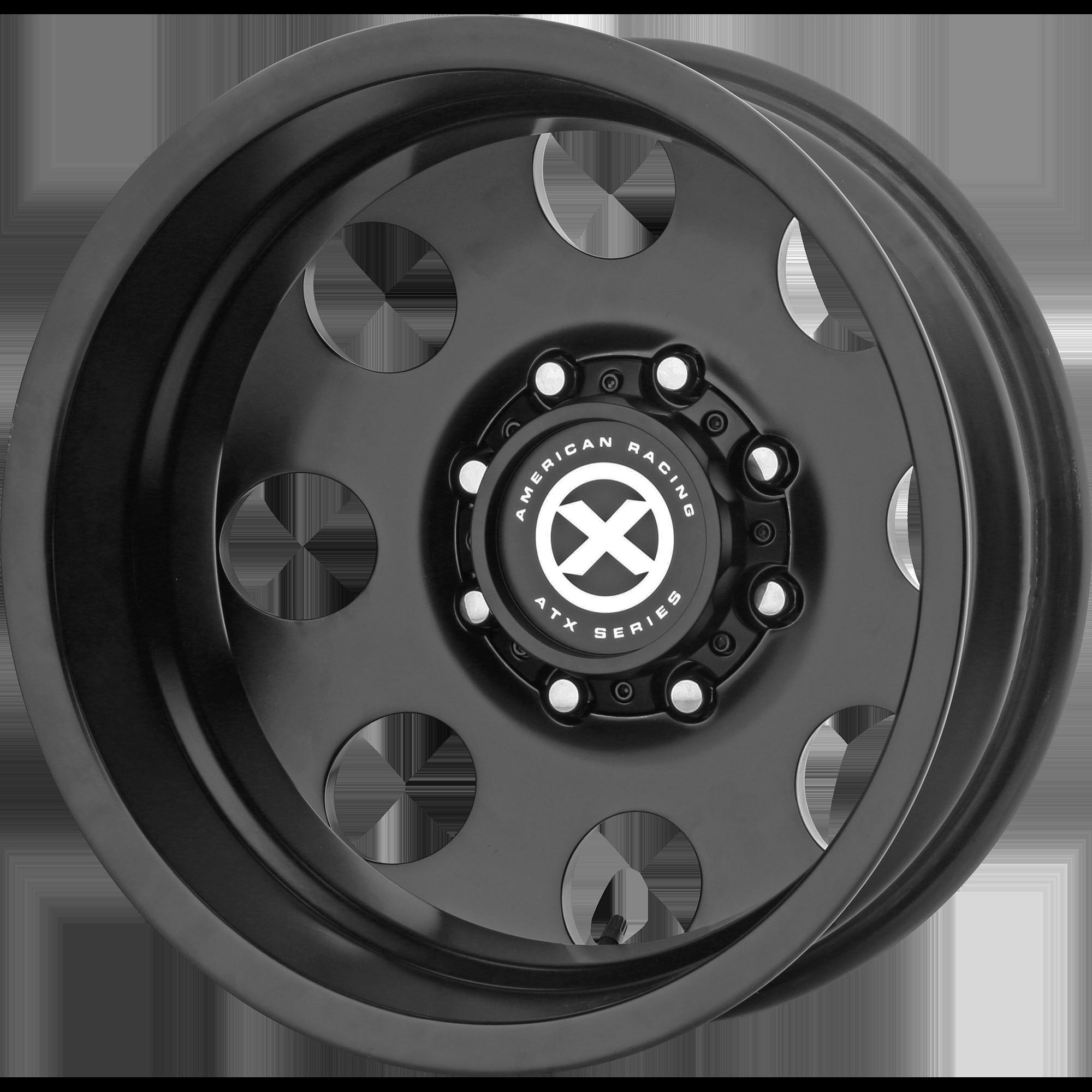 ATX SERIES AX204 BAJA DUALLY hliníkové disky 6,5x17 8x210 ET-140 Satin Black - Rear