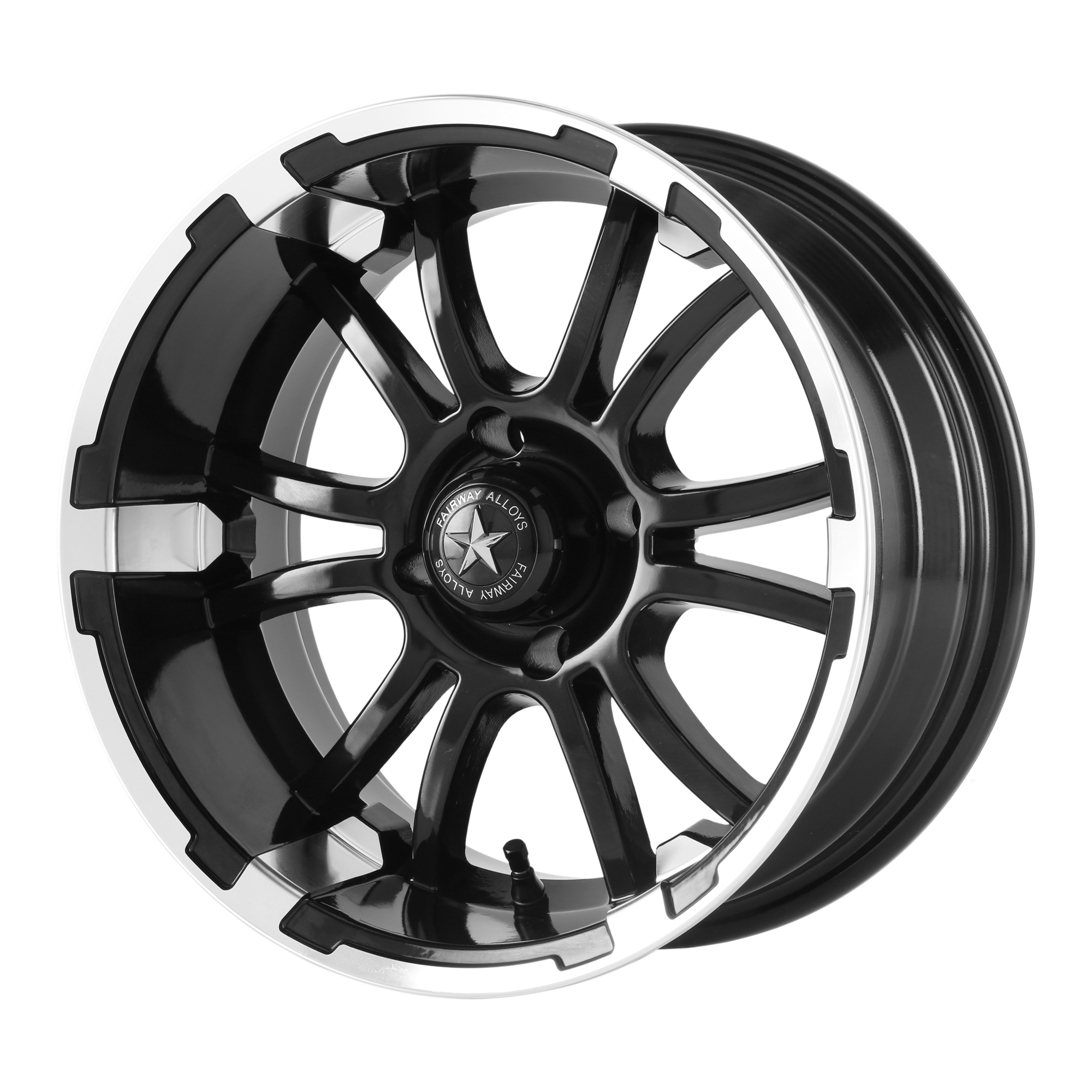 FAIRWAY ALLOYS SIXER MACHINED MATTE BLACK