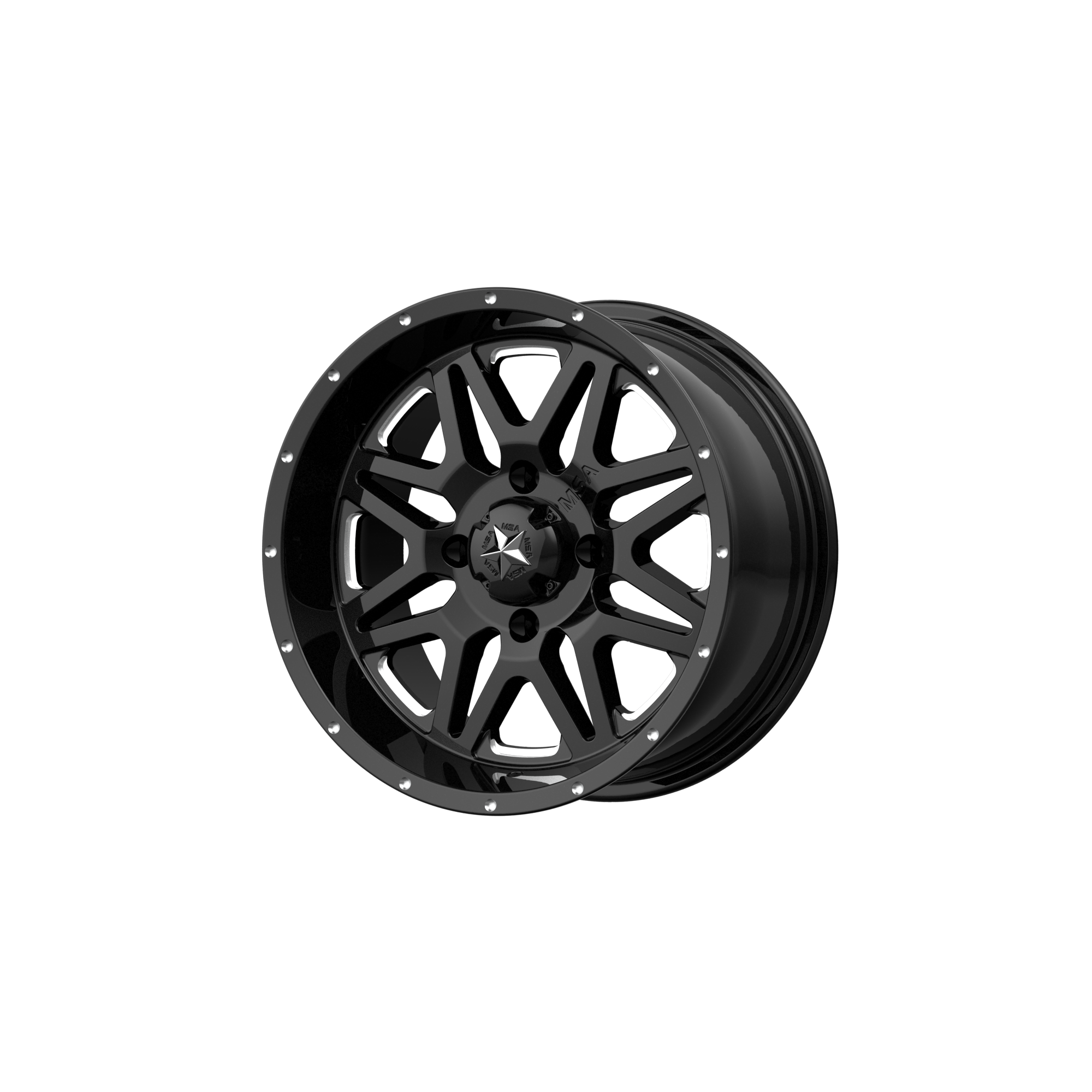MSA OFFROAD WHEELS VIBE GLOSS BLACK MILLED