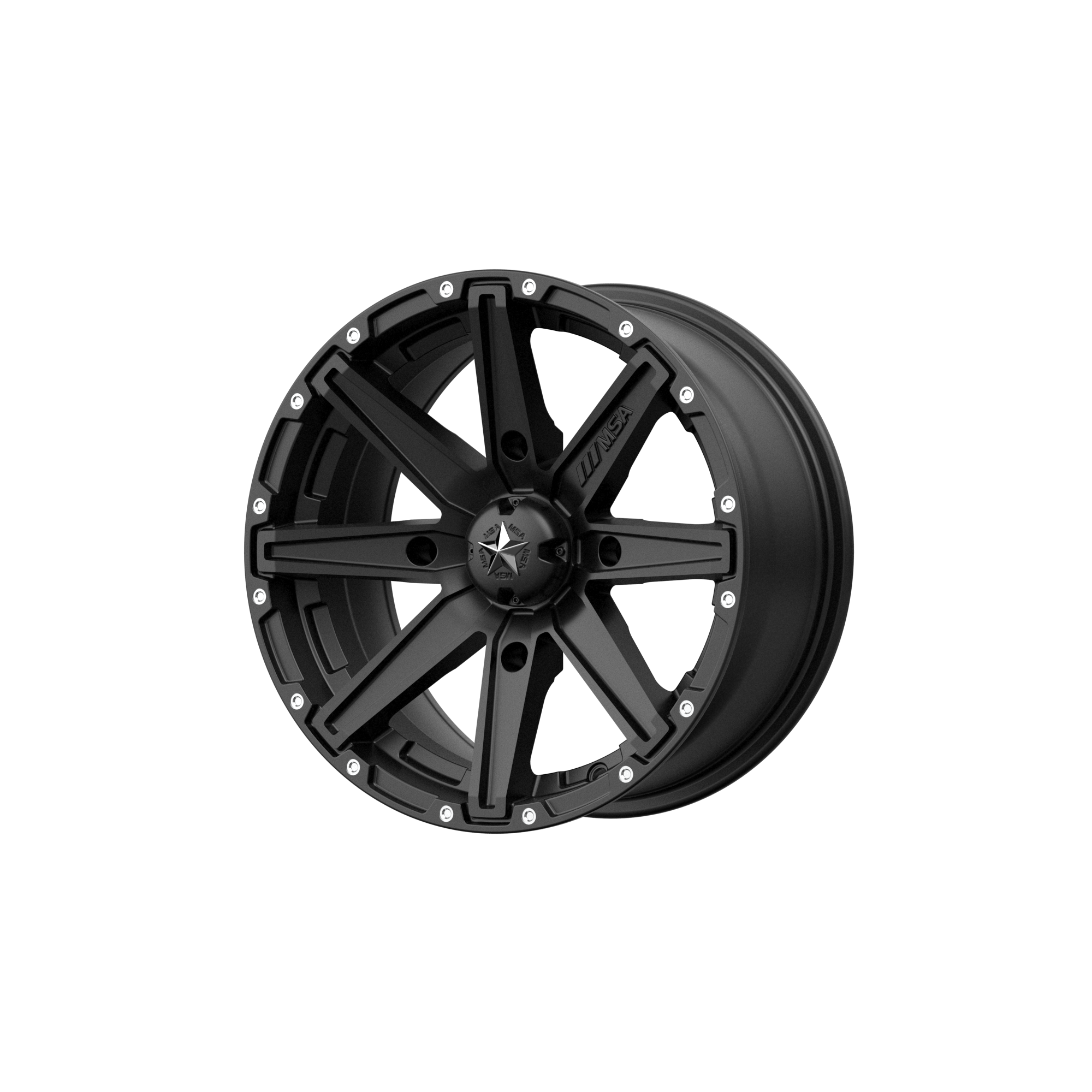 MSA OFFROAD WHEELS CLUTCH SATIN BLACK