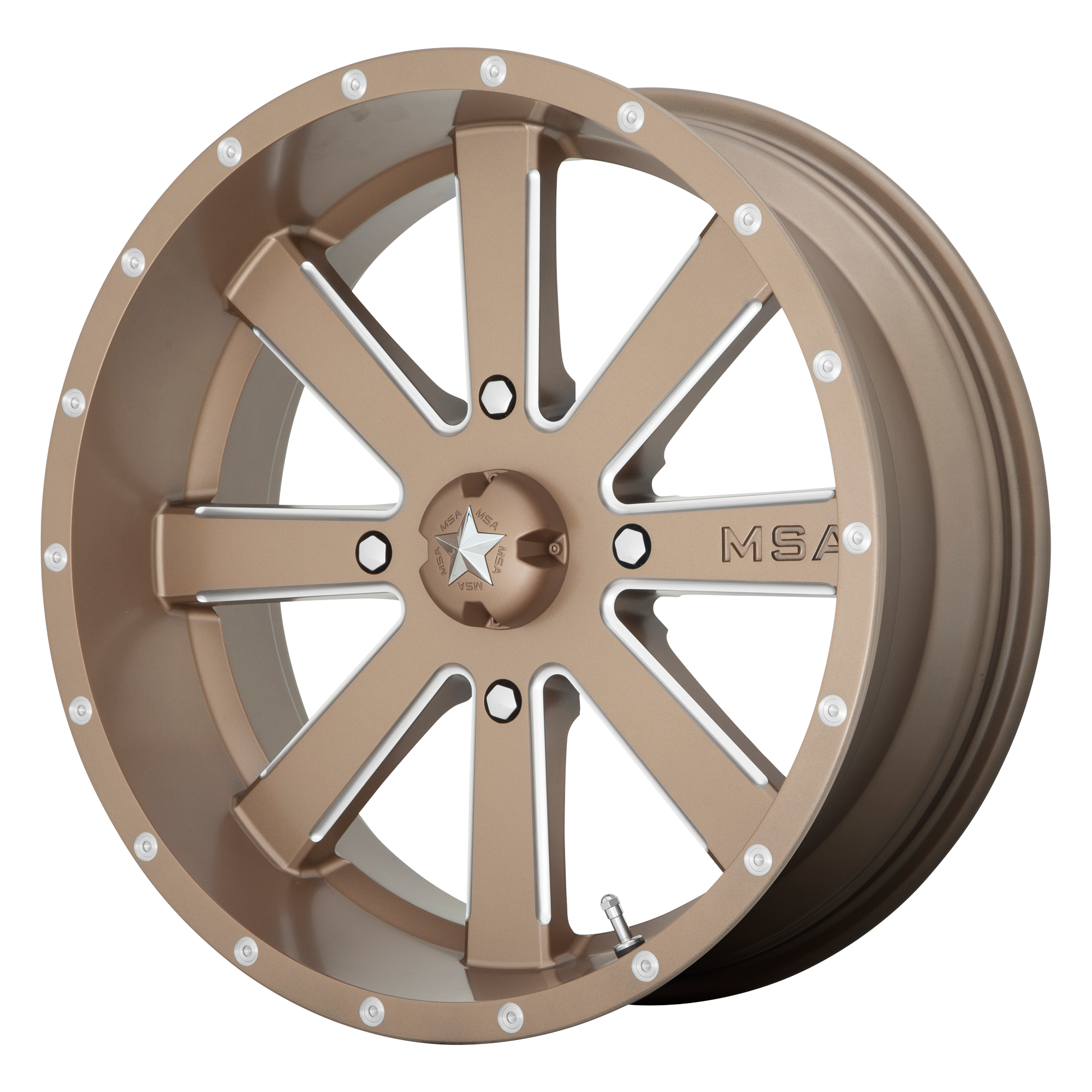MSA OFFROAD WHEELS FLASH BRONZE MILLED