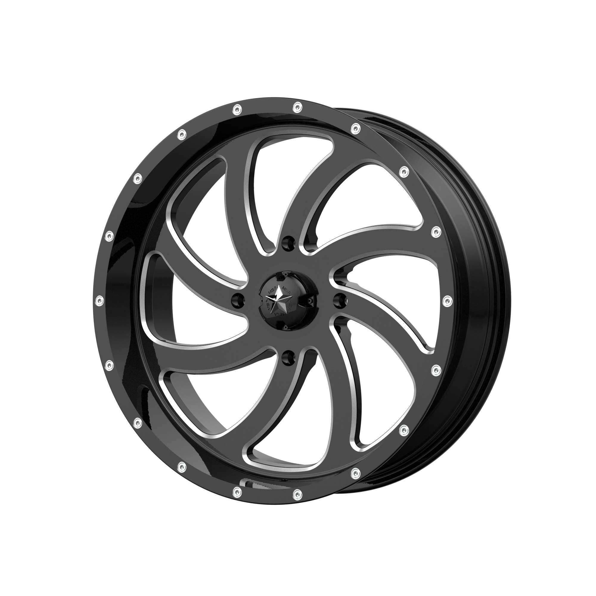 MSA OFFROAD WHEELS SWITCH GLOSS BLACK MILLED