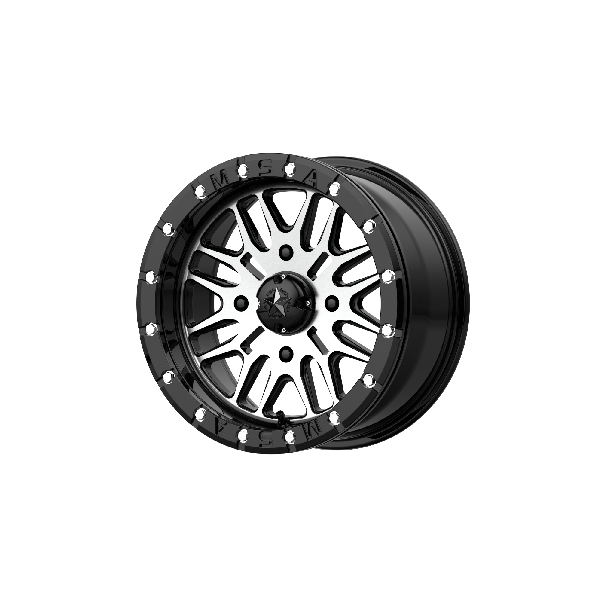 MSA OFFROAD WHEELS BRUTE BEADLOCK GLOSS BLACK MACHINED
