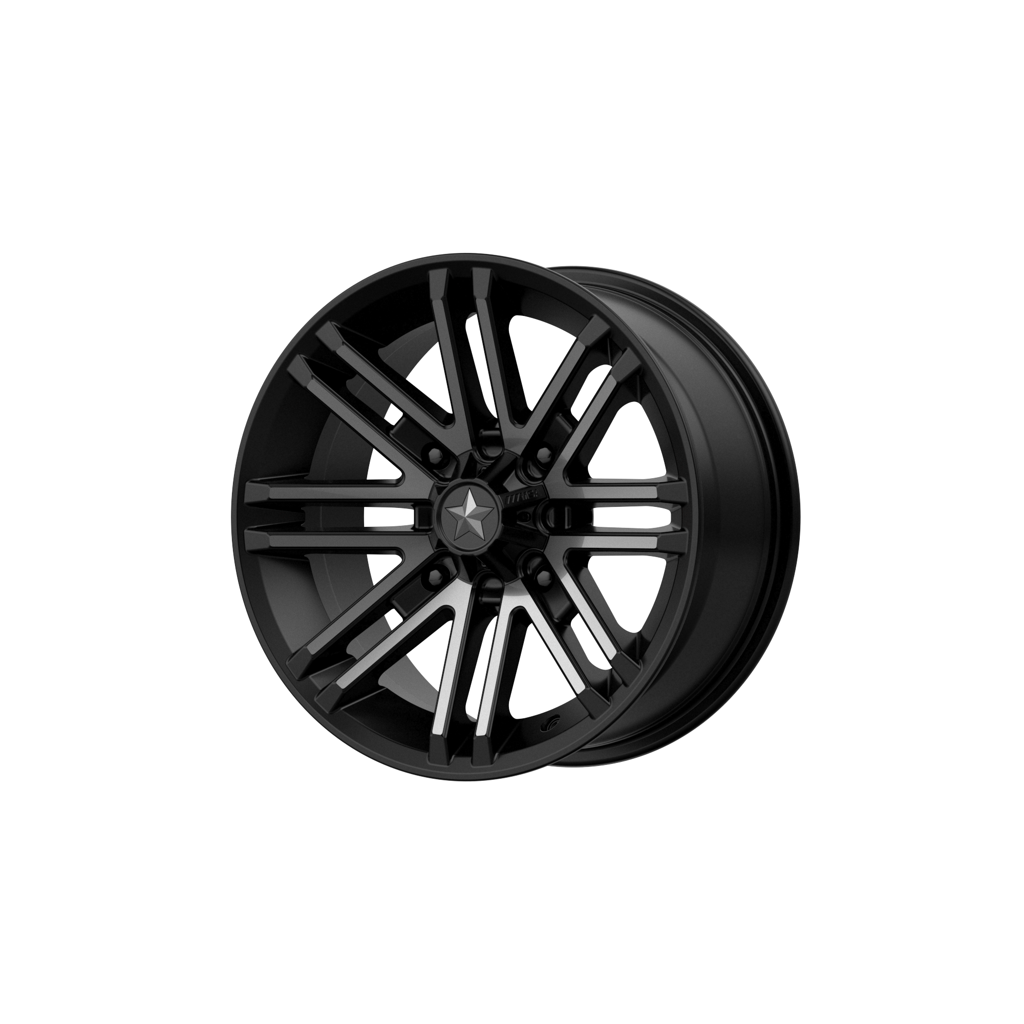 MSA OFFROAD WHEELS ROGUE SATIN BLACK W/ TITANIUM TINT