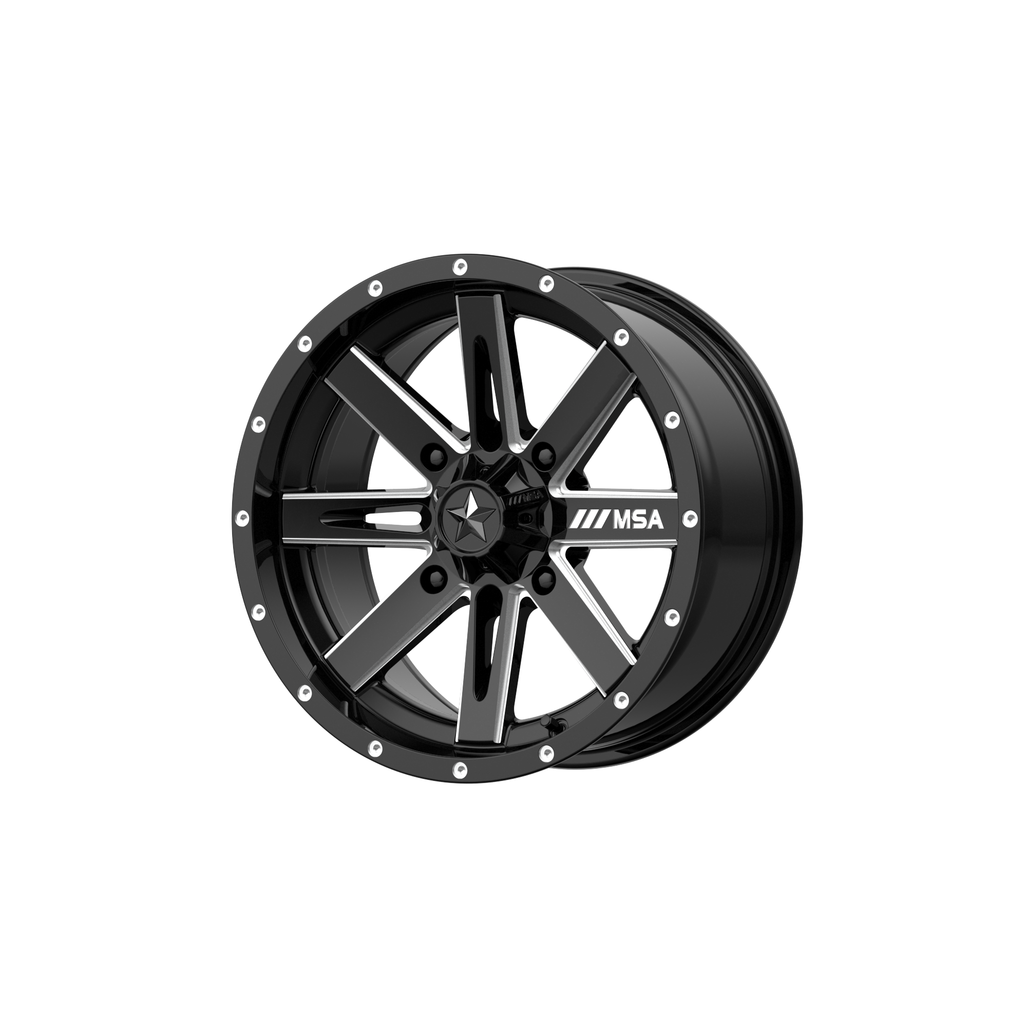 MSA OFFROAD WHEELS BOXER GLOSS BLACK MILLED