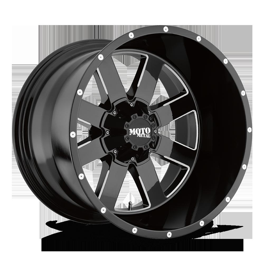 MOTO METAL MO962 hliníkové disky 12x18 5x127 ET-44 Gloss Black Milled