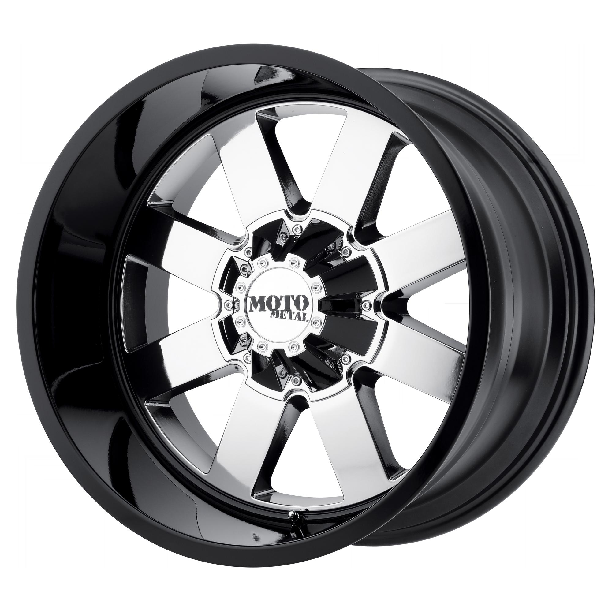 MOTO METAL MO962 hliníkové disky 9x20 5x139,7 ET0 PVD Center Gloss Black Lip