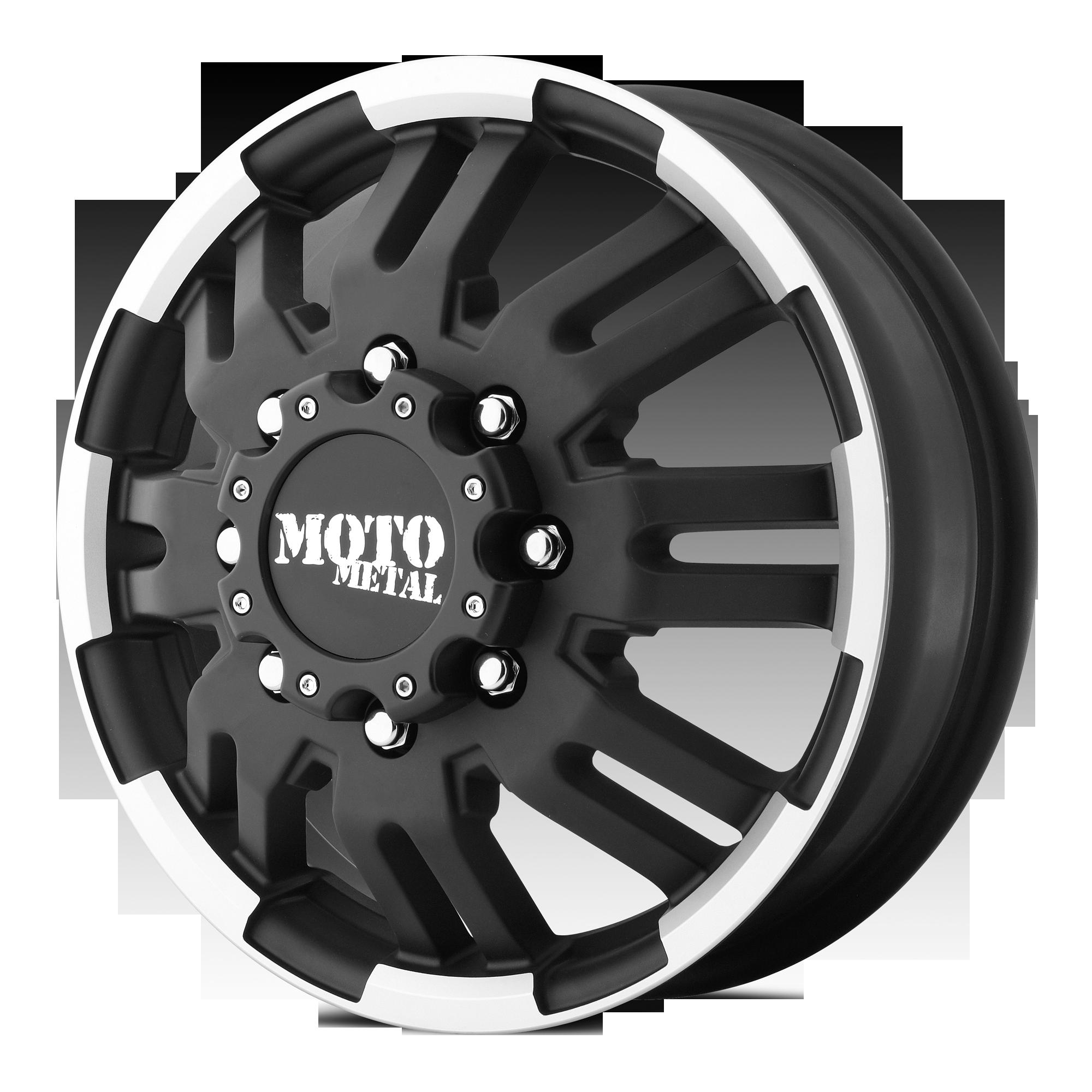 MOTO METAL MO963 hliníkové disky 6x17 8x165,1 ET111 Matte Black Machined - Front