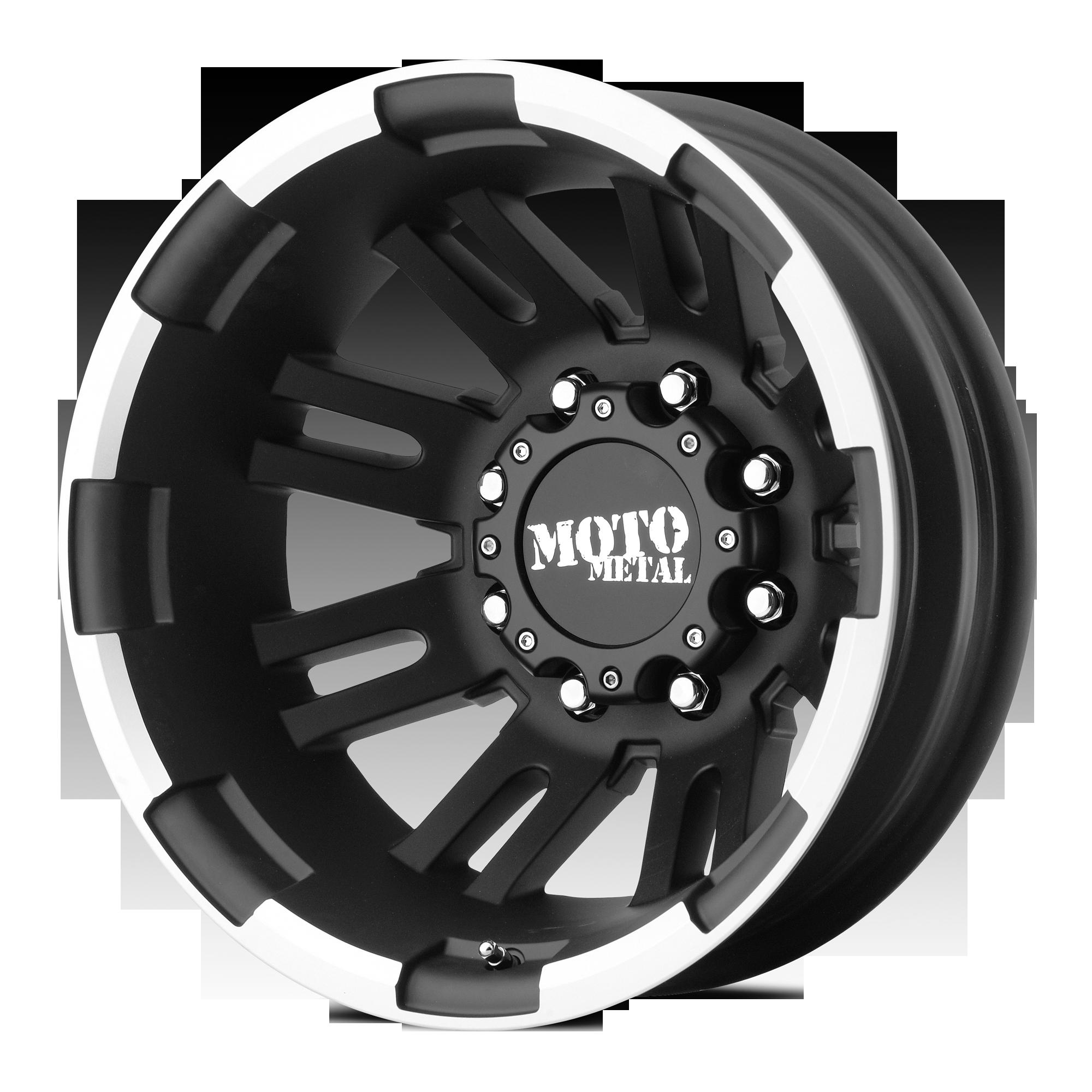 MOTO METAL MO963 hliníkové disky 6x17 8x165,1 ET-134 Matte Black Machined - Rear