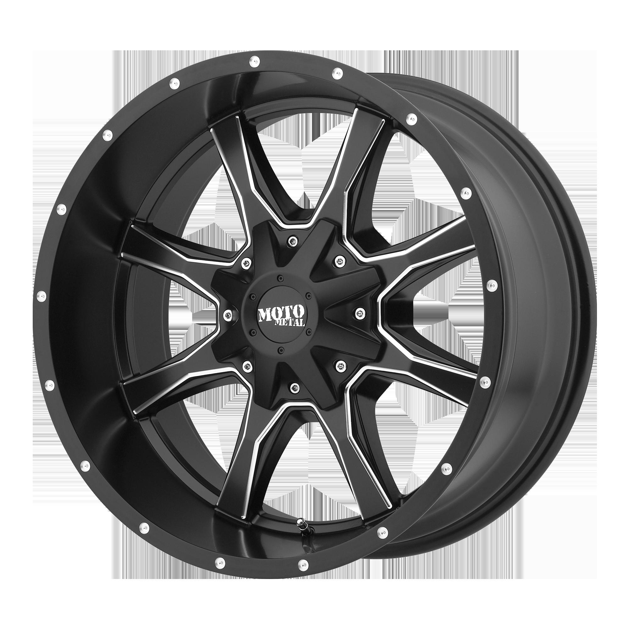 MOTO METAL MO970 hliníkové disky 10x20 8x165,1 ET-18 Satin Black Milled