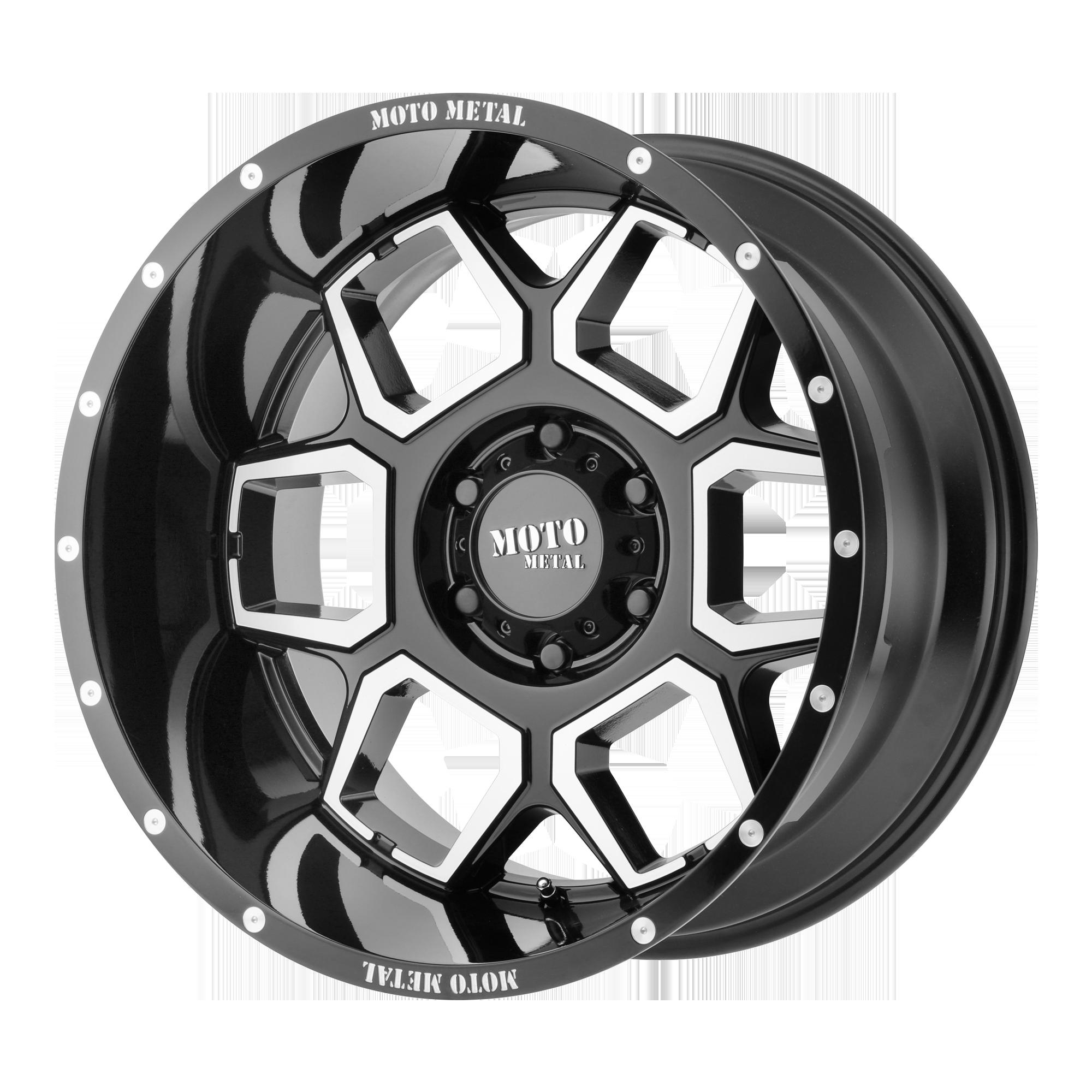 MOTO METAL MO981 SPADE hliníkové disky 12x20 5x127 ET-44 Gloss Black Machined