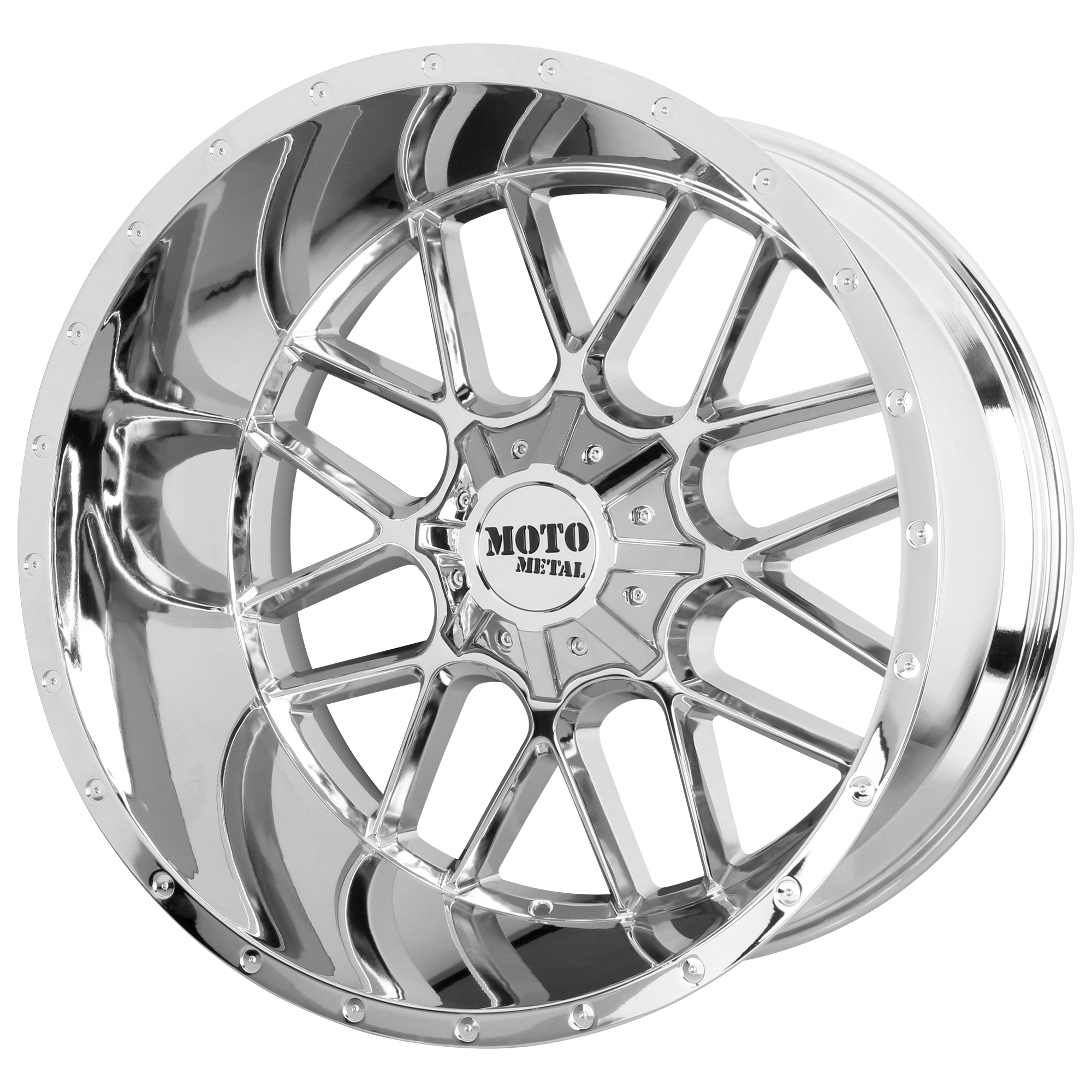 MOTO METAL MO986 SIEGE hliníkové disky 12x20 6x135 ET-44 Chrome