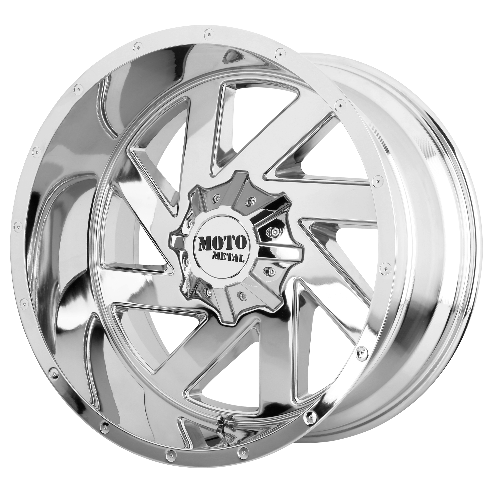 MOTO METAL MO988 MELEE hliníkové disky 12x20 na zakázku ET-44 Chrome