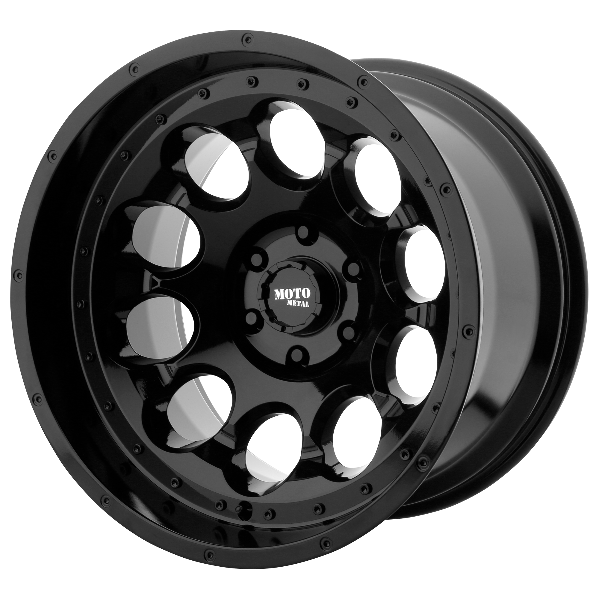 MOTO METAL MO990 ROTARY hliníkové disky 9x17 5x127 ET-12 Gloss Black
