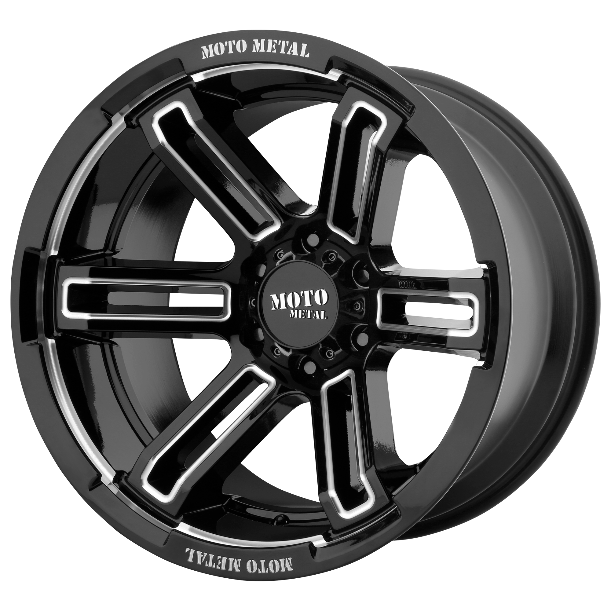 MOTO METAL MO991 RUKUS hliníkové disky 12x20 5x127 ET-44 Gloss Black Milled