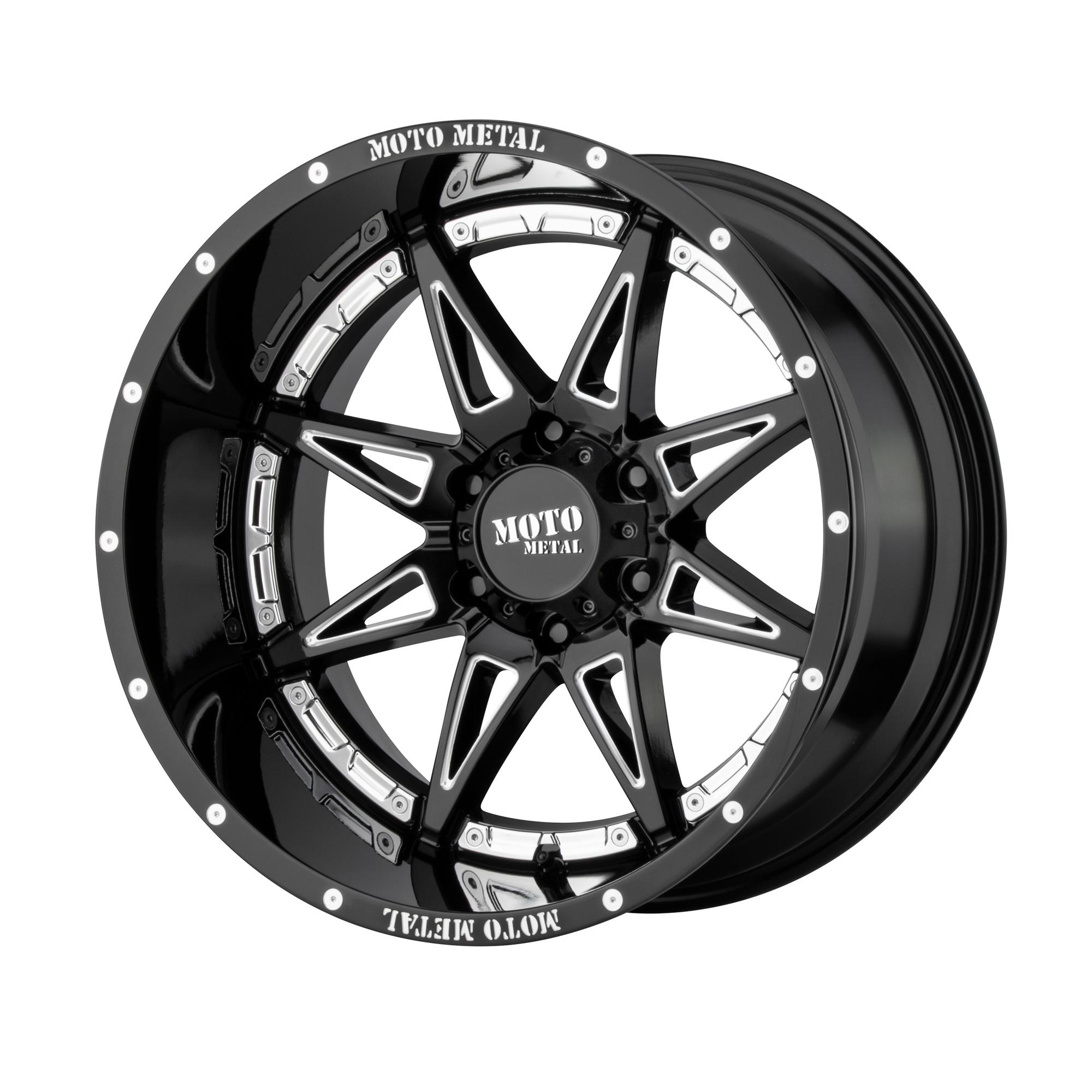 MOTO METAL MO993 HYDRA hliníkové disky 8,5x18 6x139,7 ET18 Gloss Black Milled