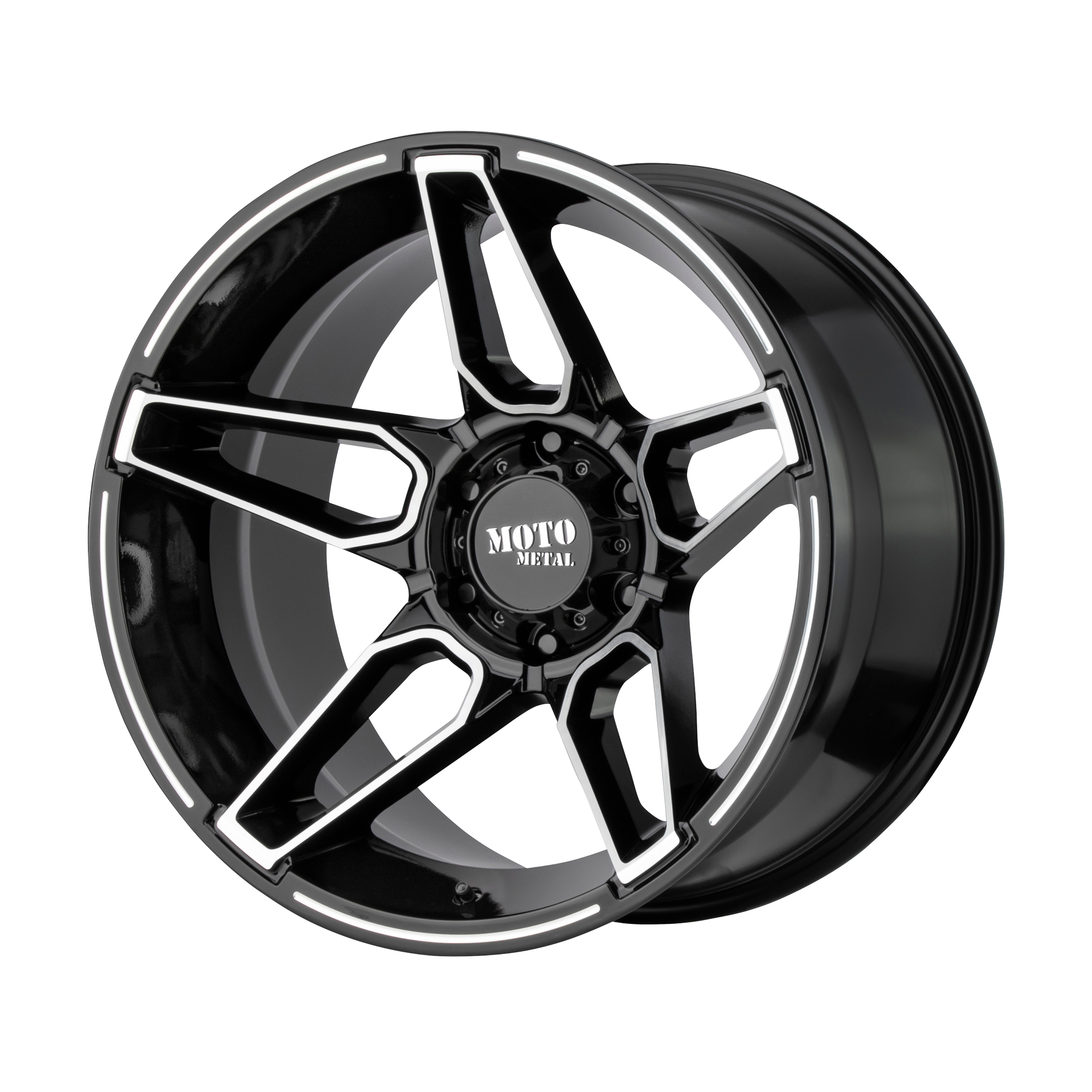 MOTO METAL MO994 FANG hliníkové disky 10x20 5x139,7 ET-18 Gloss Black Machined