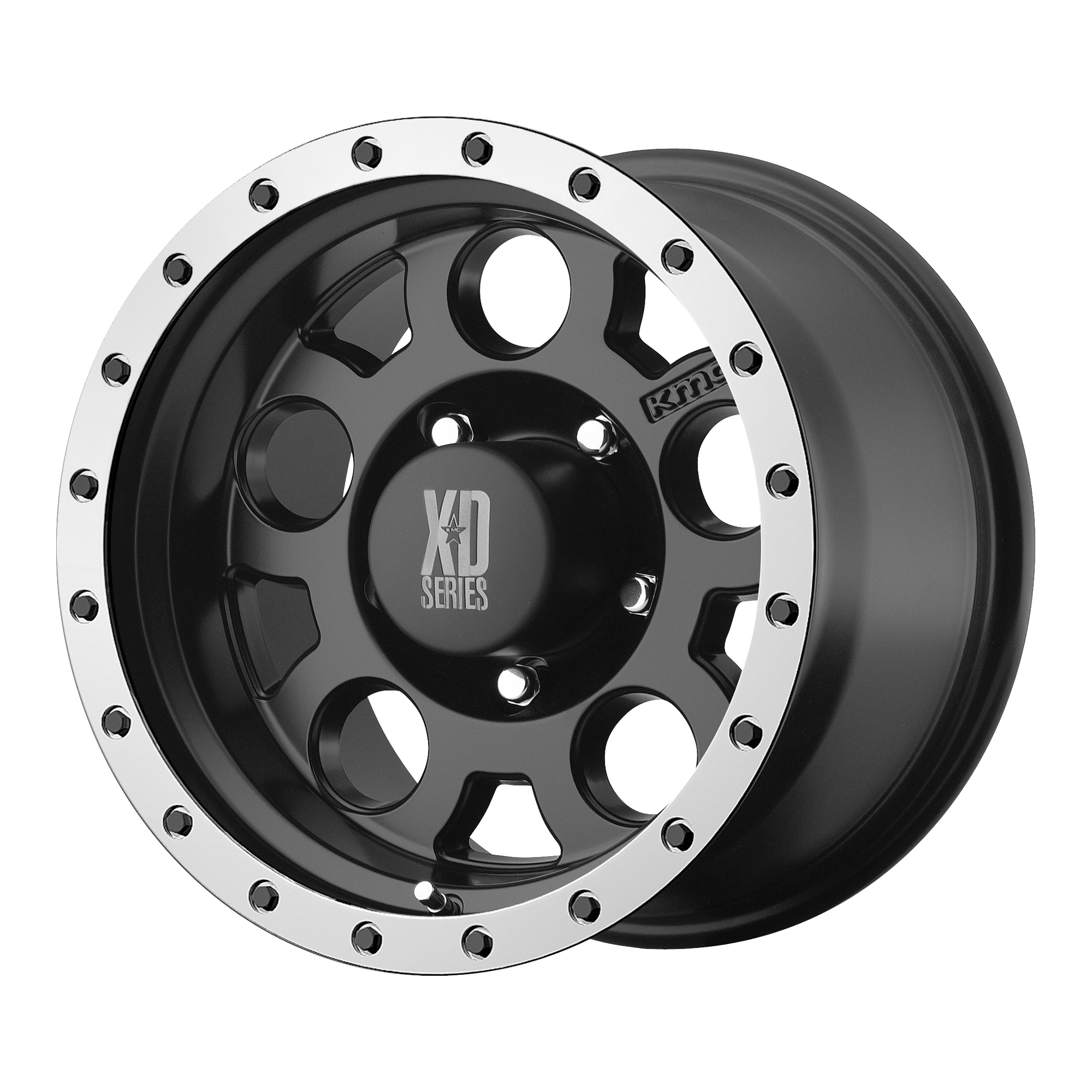XD SERIES XD125 hliníkové disky 9x20 5x127 ET18 Matte Black With Machined Reinforcing Ring