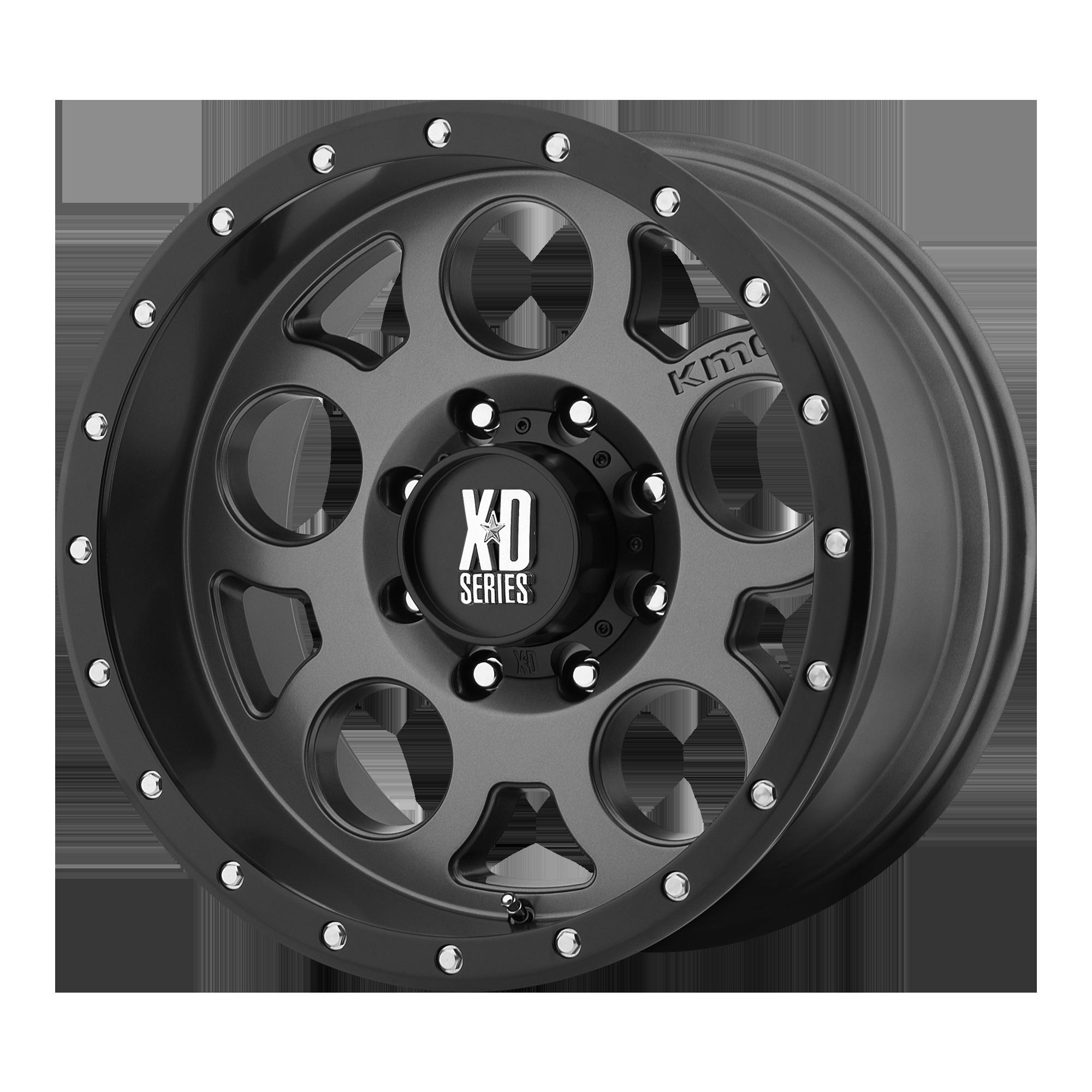 XD SERIES XD126 ENDURO PRO hliníkové disky 9x18 6x139,7 ET18 Matte Gray W Black Reinforcing Ring