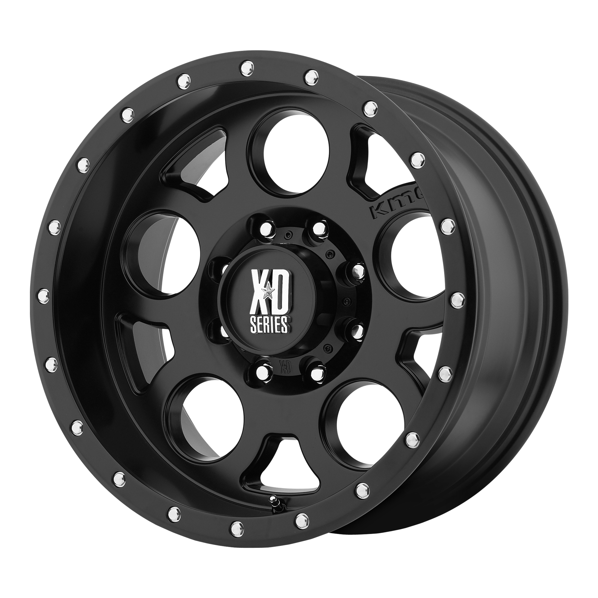 XD SERIES XD126 ENDURO PRO hliníkové disky 9x17 5x127 ET-12 Satin Black With Reinforcing Ring