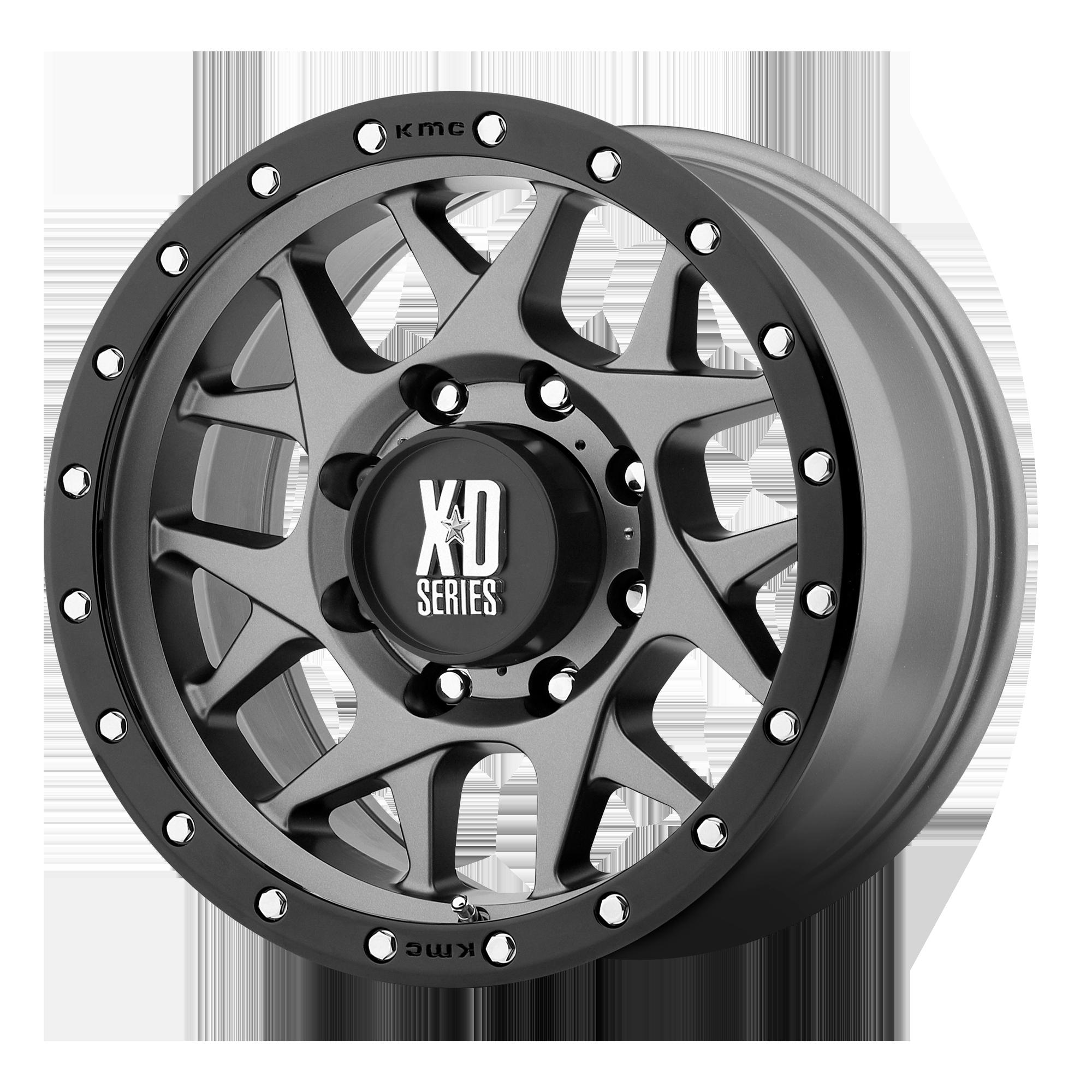 XD SERIES XD127 BULLY hliníkové disky 9x17 5x127 ET-12 Matte Gray Black Ring