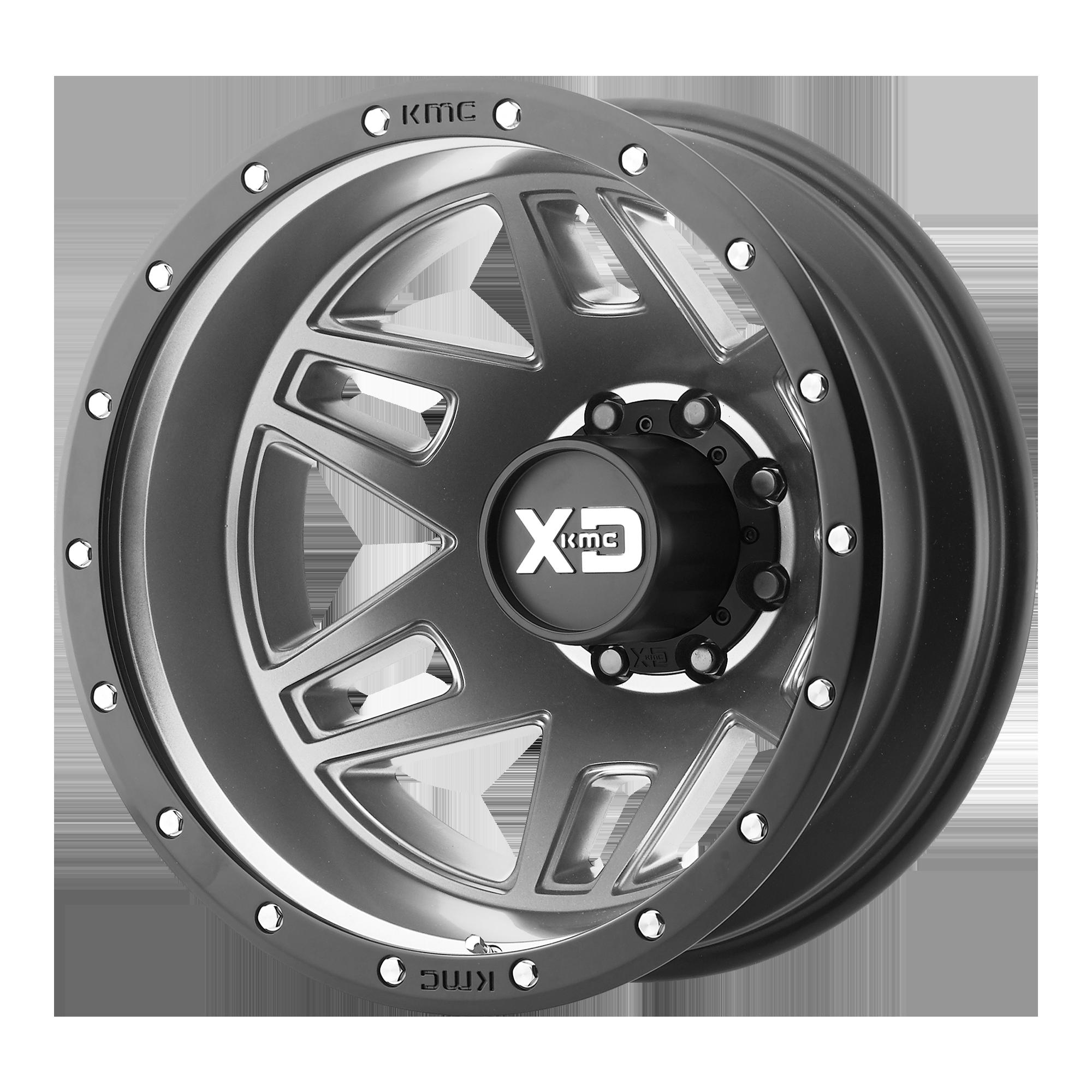 XD SERIES XD130 MACHETE DUALLY hliníkové disky 8,25x20 8x165,1 ET127 Matte Gray Black Ring