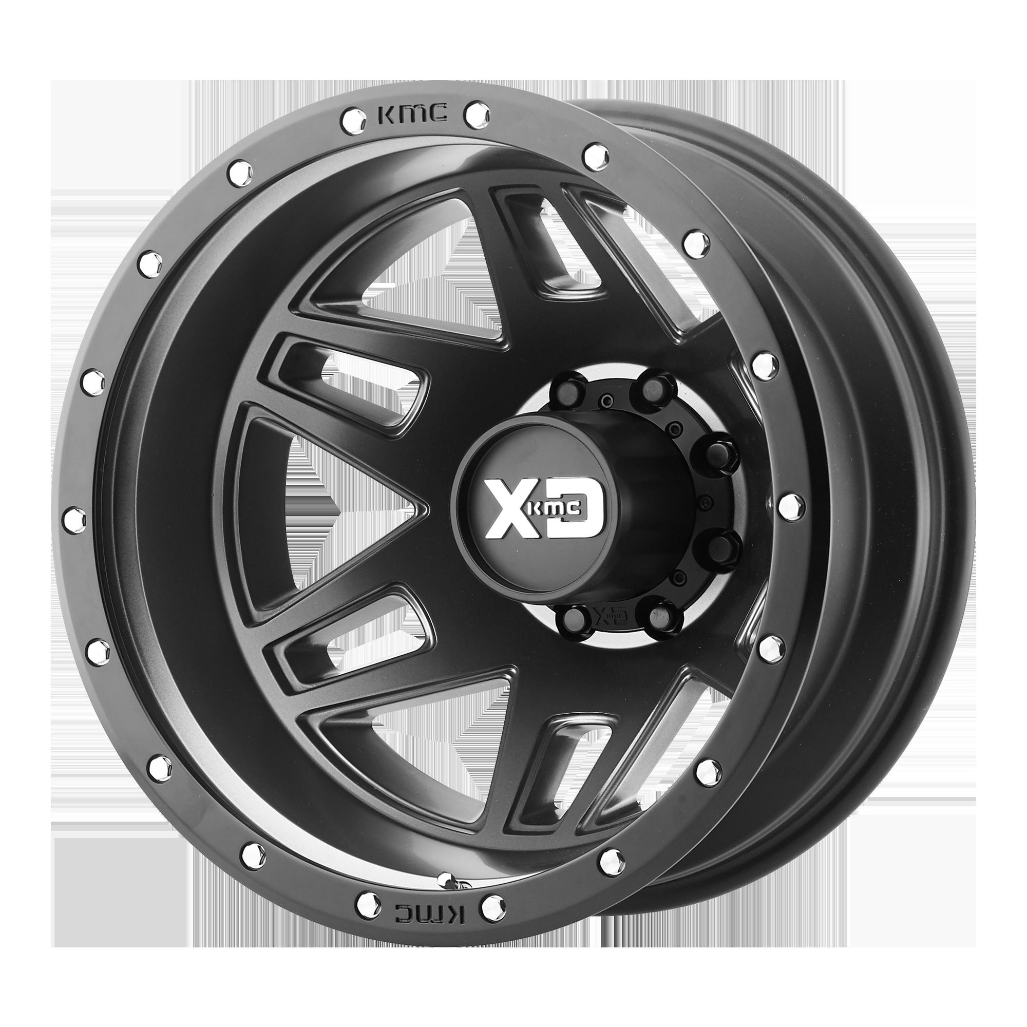 XD SERIES XD130 MACHETE DUALLY hliníkové disky 7,5x20 8x170 ET-152 Satin Black With Reinforcing Ring
