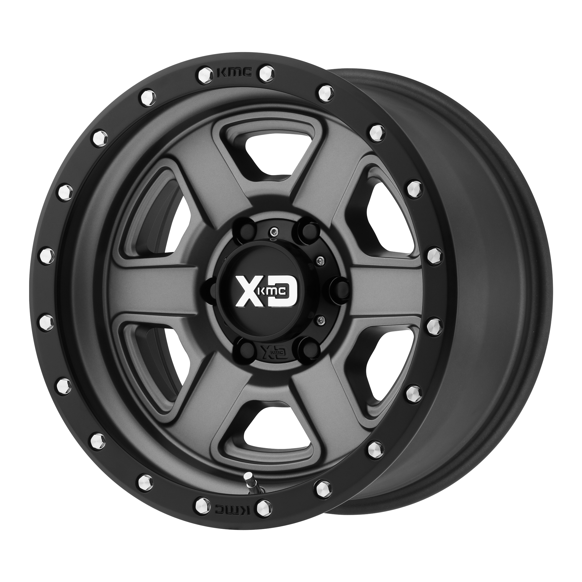 XD SERIES XD133 FUSION OFF-ROAD hliníkové disky 9x18 6x139,7 ET0 Satin Gray With Satin Black Lip