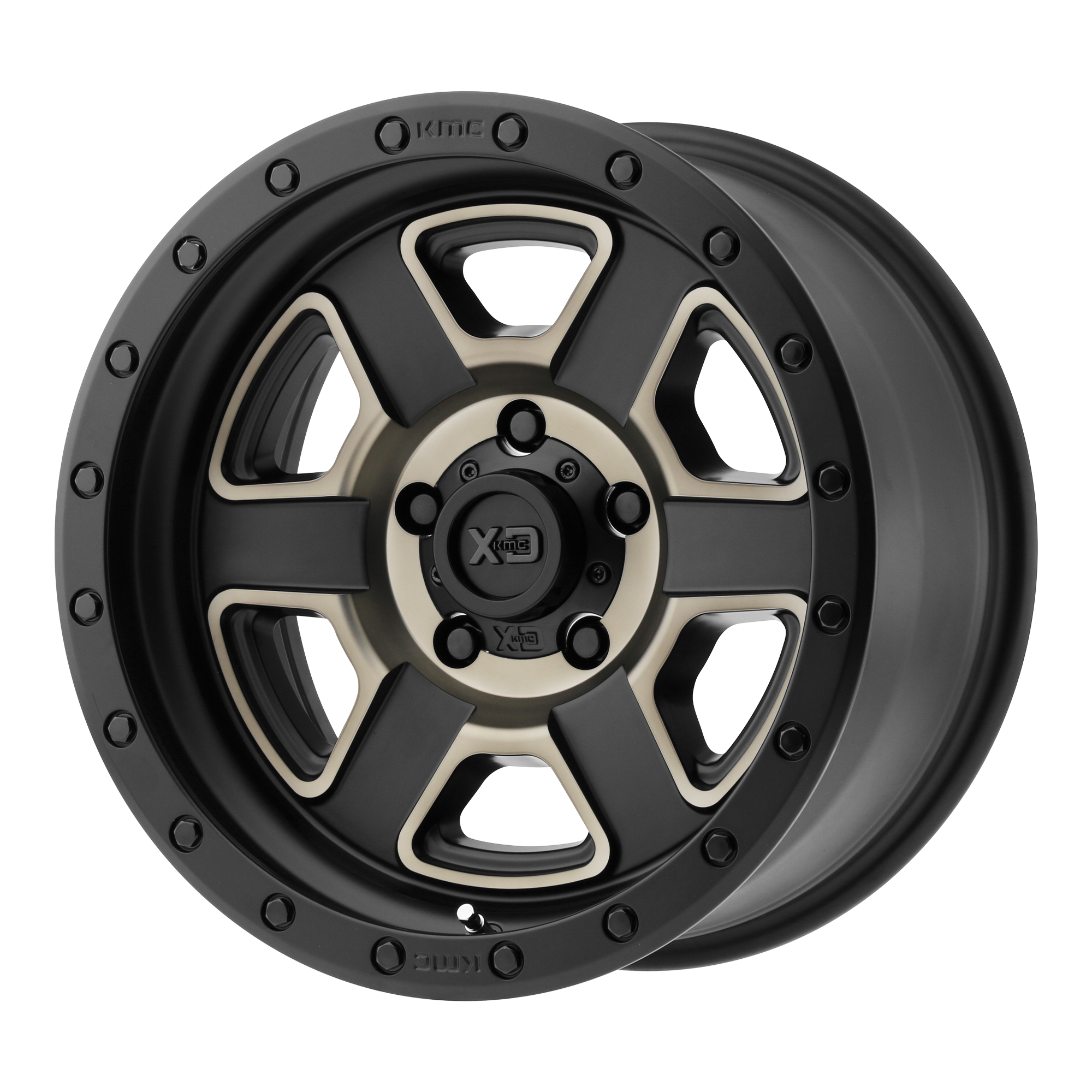 XD SERIES XD133 FUSION OFF-ROAD hliníkové disky 9x17 5x127 ET-12 Satin Black Machined With Dark Tint Clear Coat