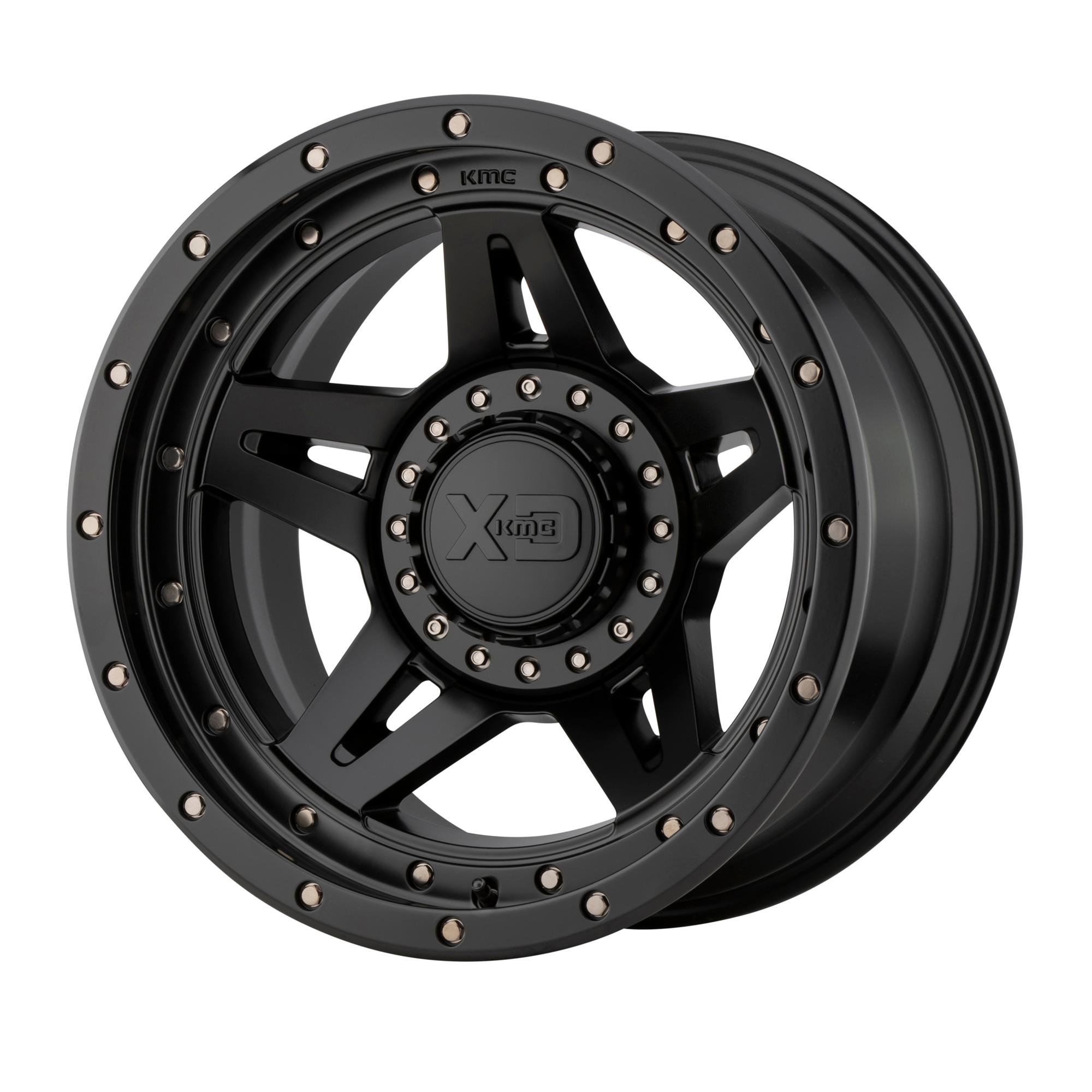 XD SERIES XD138 BRUTE hliníkové disky 9x20 na zakázku ET0 Satin Black