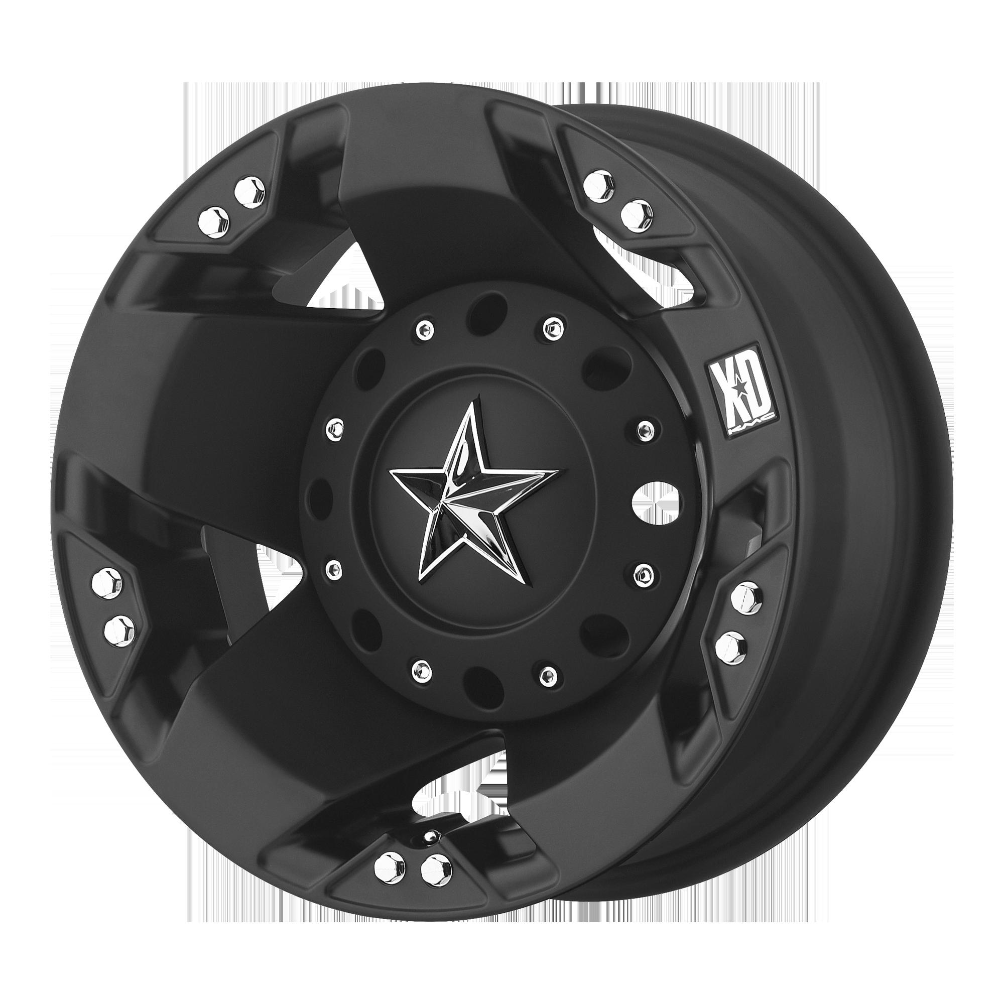 XD SERIES XD775 ROCKSTAR hliníkové disky 6x17 8x165,1 ET-134 Matte Black - Rear