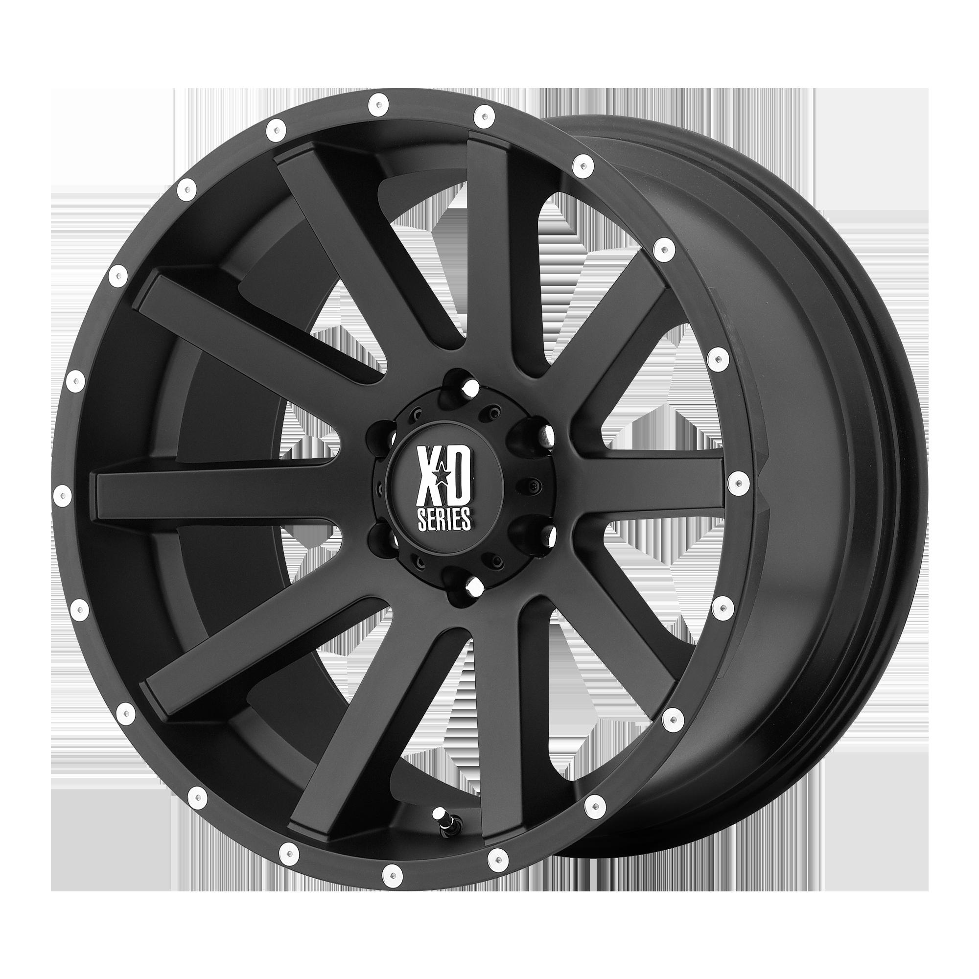 XD SERIES XD818 HEIST hliníkové disky 8x17 5x127 ET35 Satin Black
