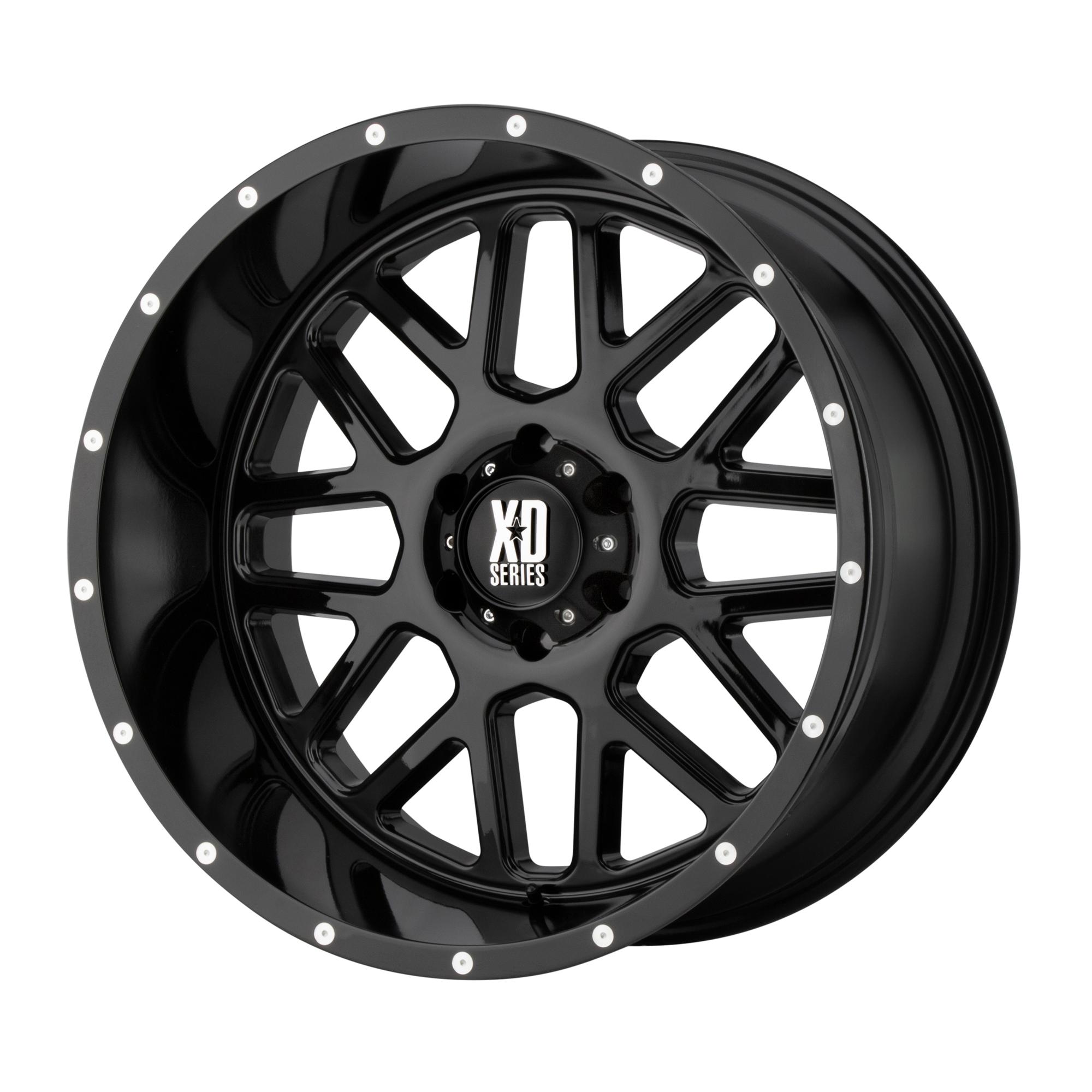XD SERIES XD820 GRENADE hliníkové disky 10x20 8x165,1 ET-24 Gloss Black