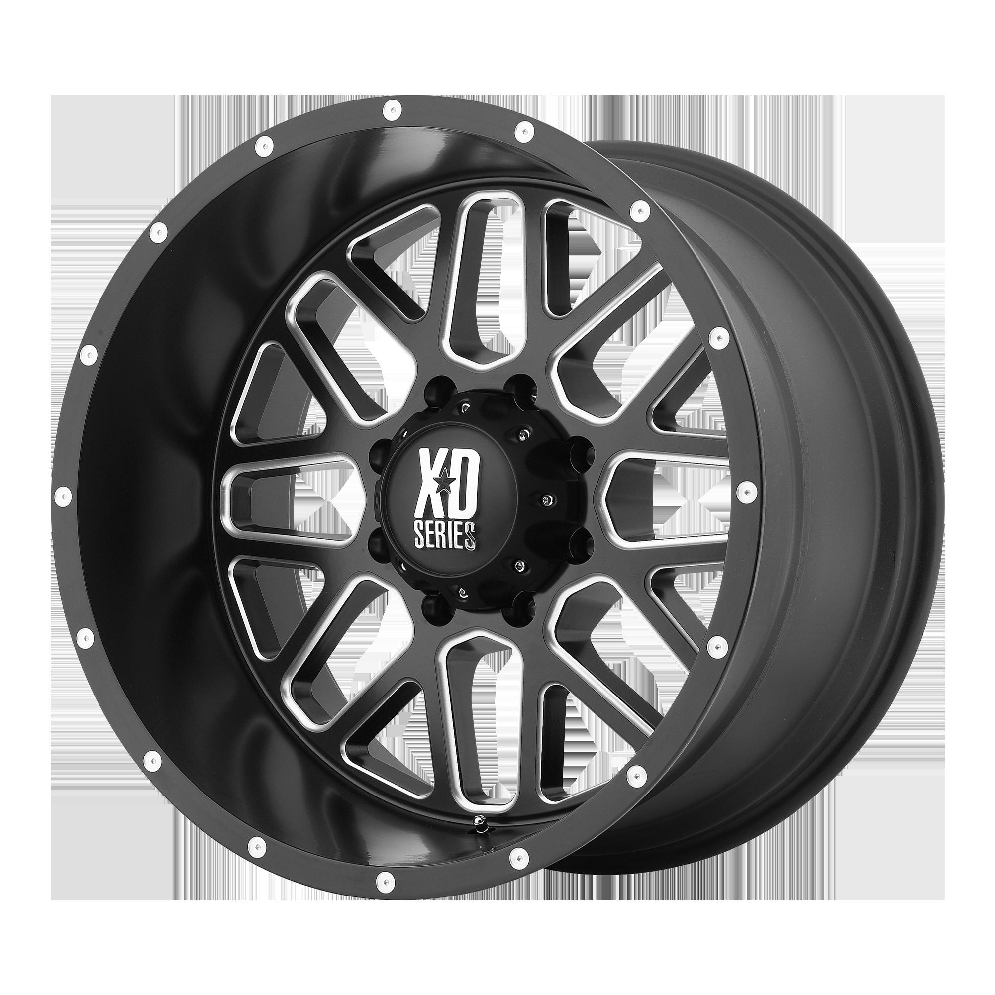 XD SERIES XD820 GRENADE hliníkové disky 8,5x17 5x114,3 ET0 Satin Black Milled