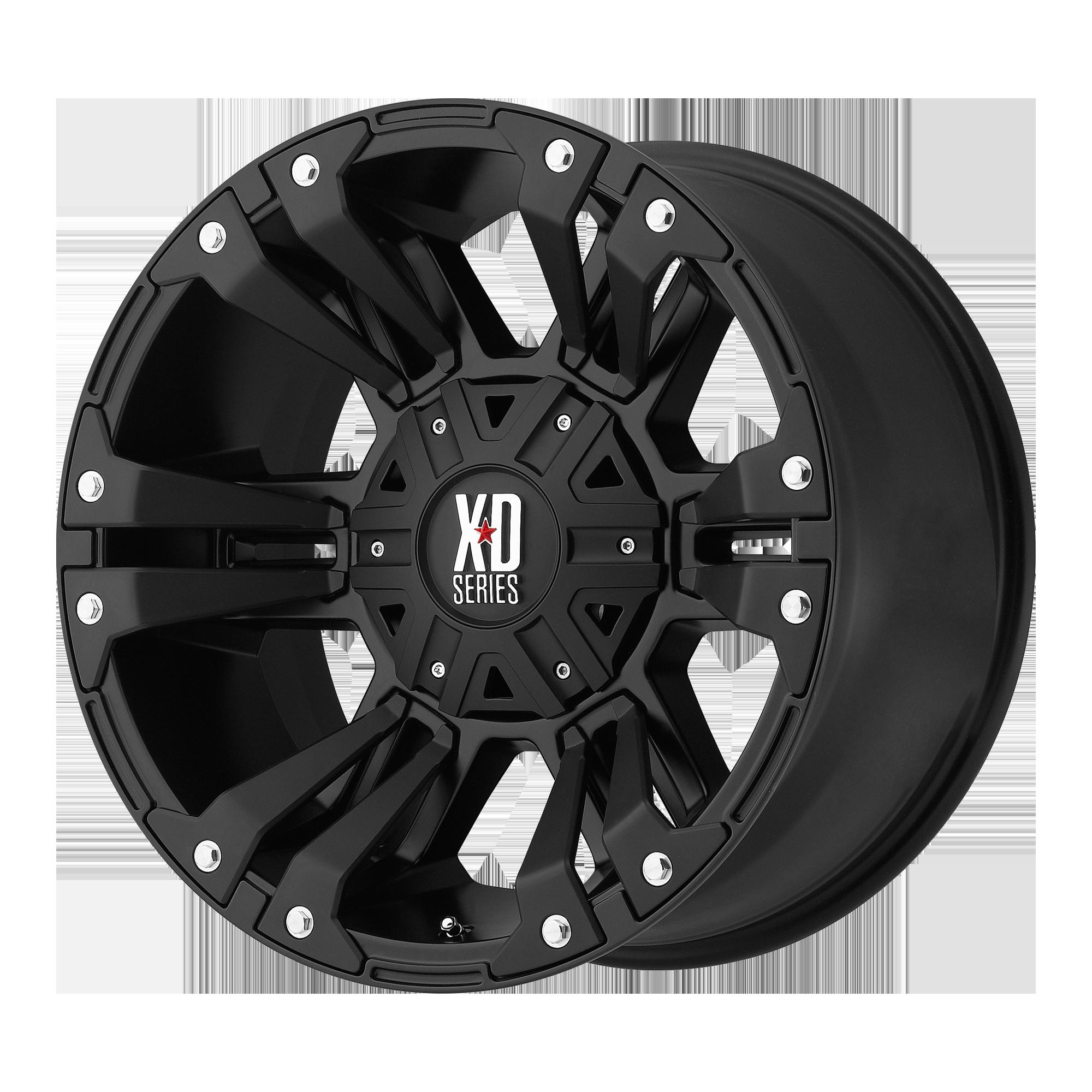 XD SERIES XD822 MONSTER II hliníkové disky 9x18 8x180 ET18 Matte Black
