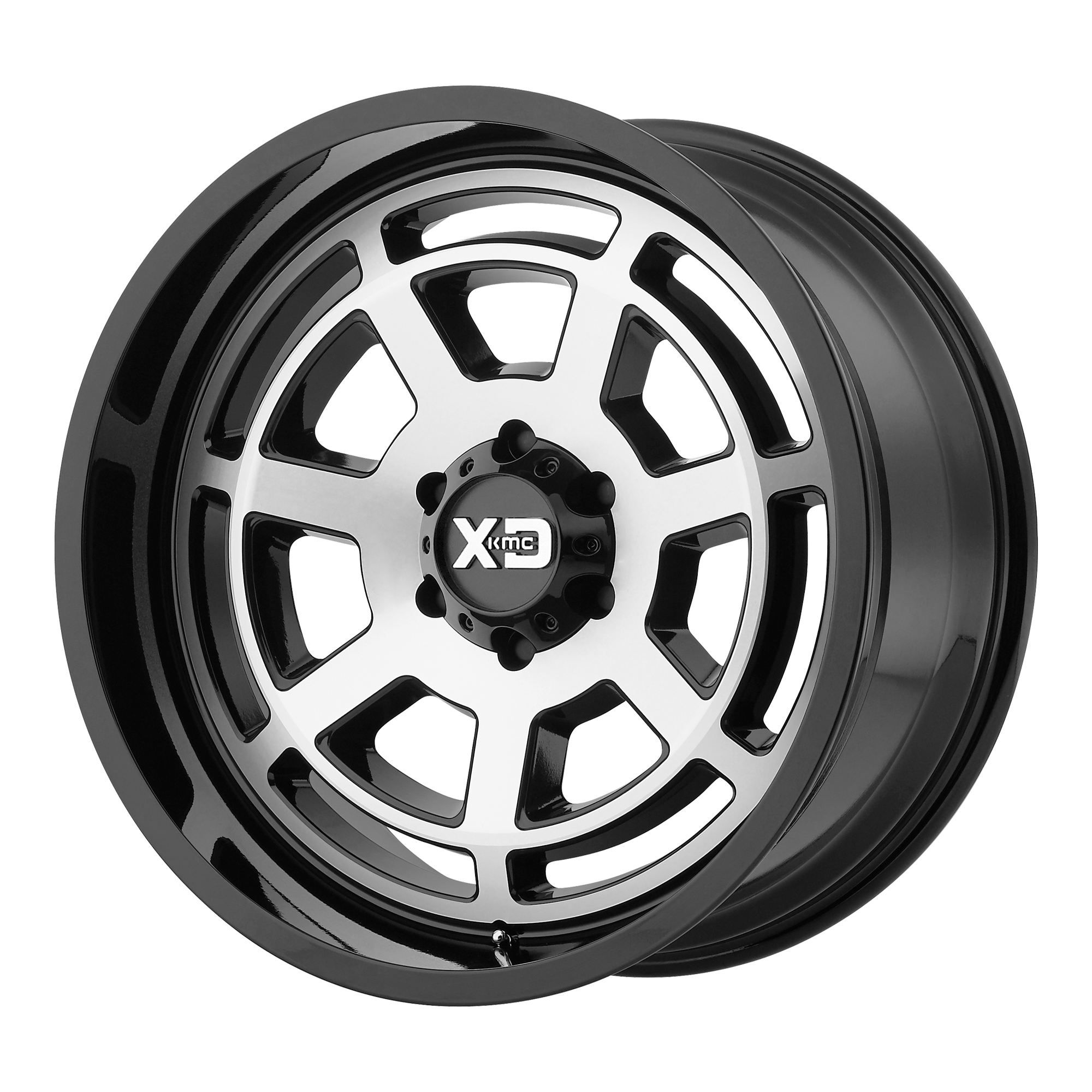 XD SERIES XD824 BONES hliníkové disky 9x20 8x180 ET18 Gloss Black Machined Face