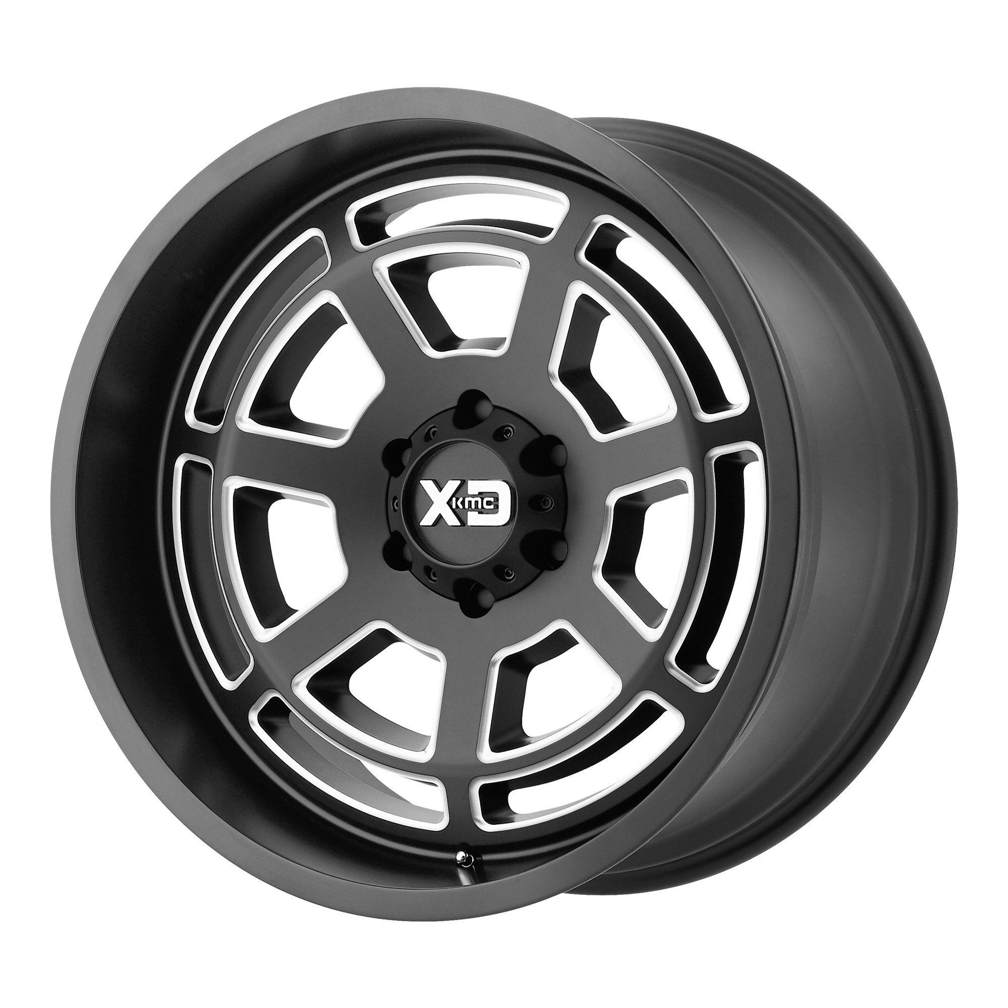 XD SERIES XD824 BONES hliníkové disky 10x22 5x127 ET-18 Satin Black Milled