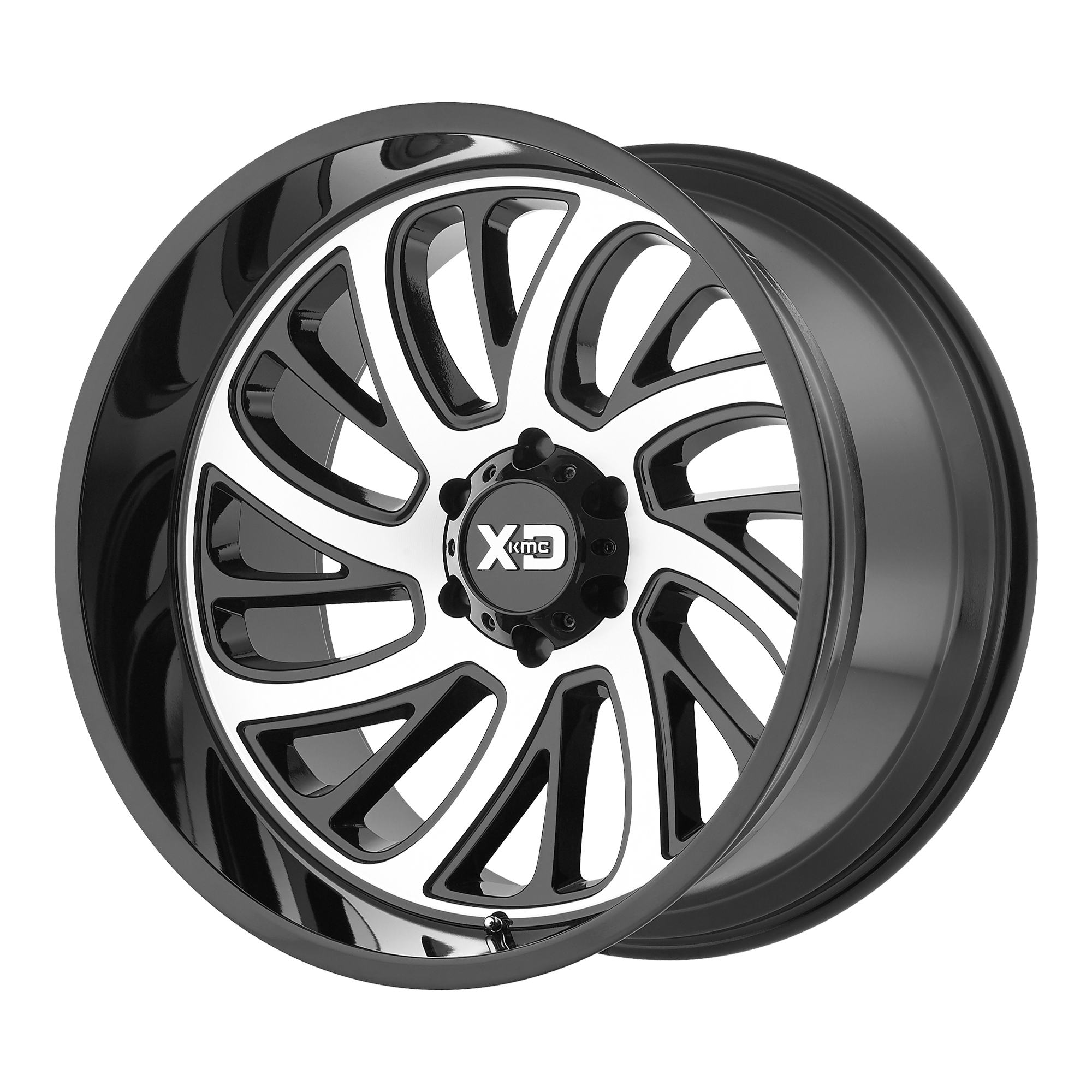 XD SERIES XD826 SURGE hliníkové disky 10x20 6x135 ET-24 Gloss Black With Machined Face