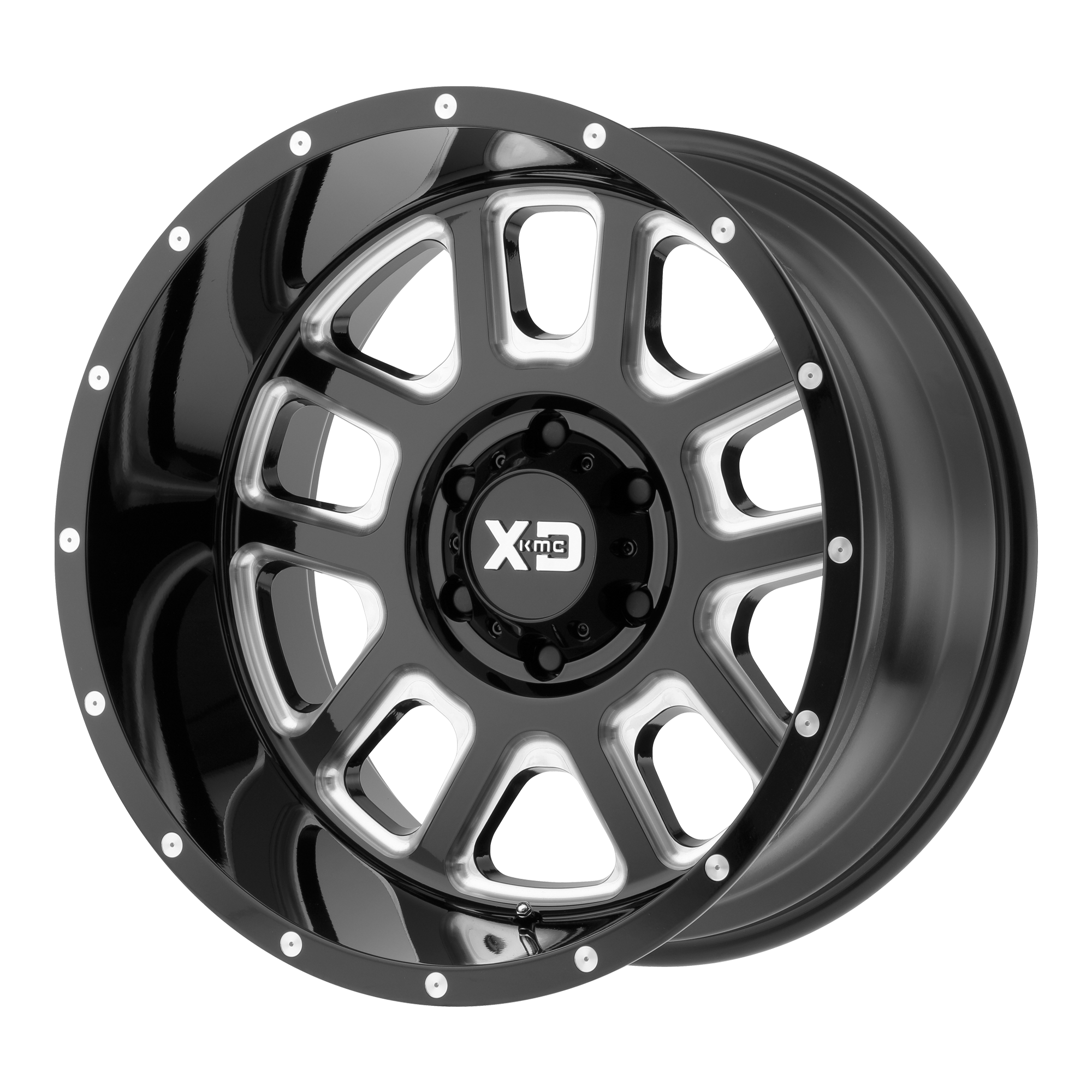 XD SERIES XD828 DELTA hliníkové disky 9x20 5x127 ET-12 Gloss Black Milled