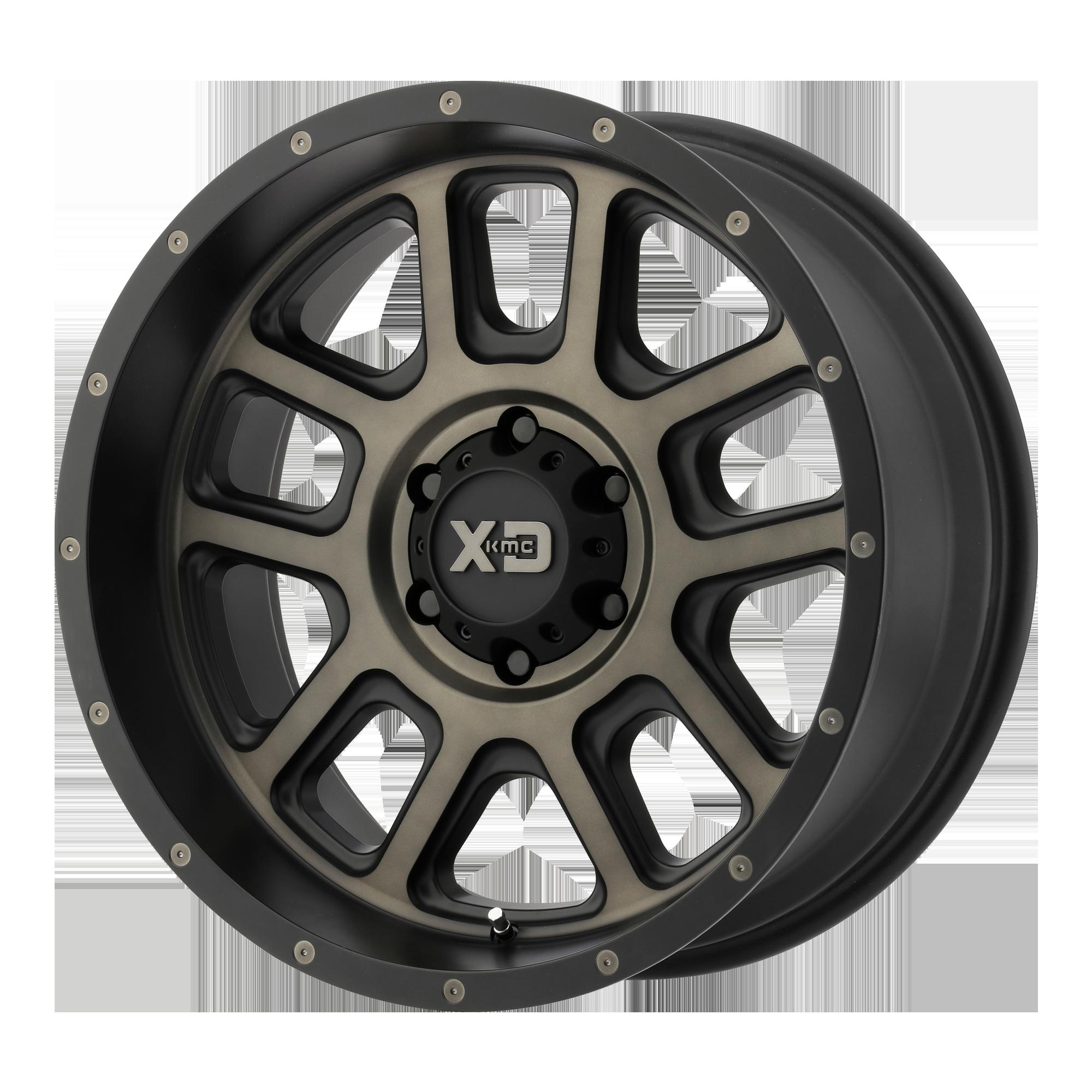 XD SERIES XD828 DELTA hliníkové disky 9x20 6x120 ET18 Matte Black w/ Dark Tint Clear