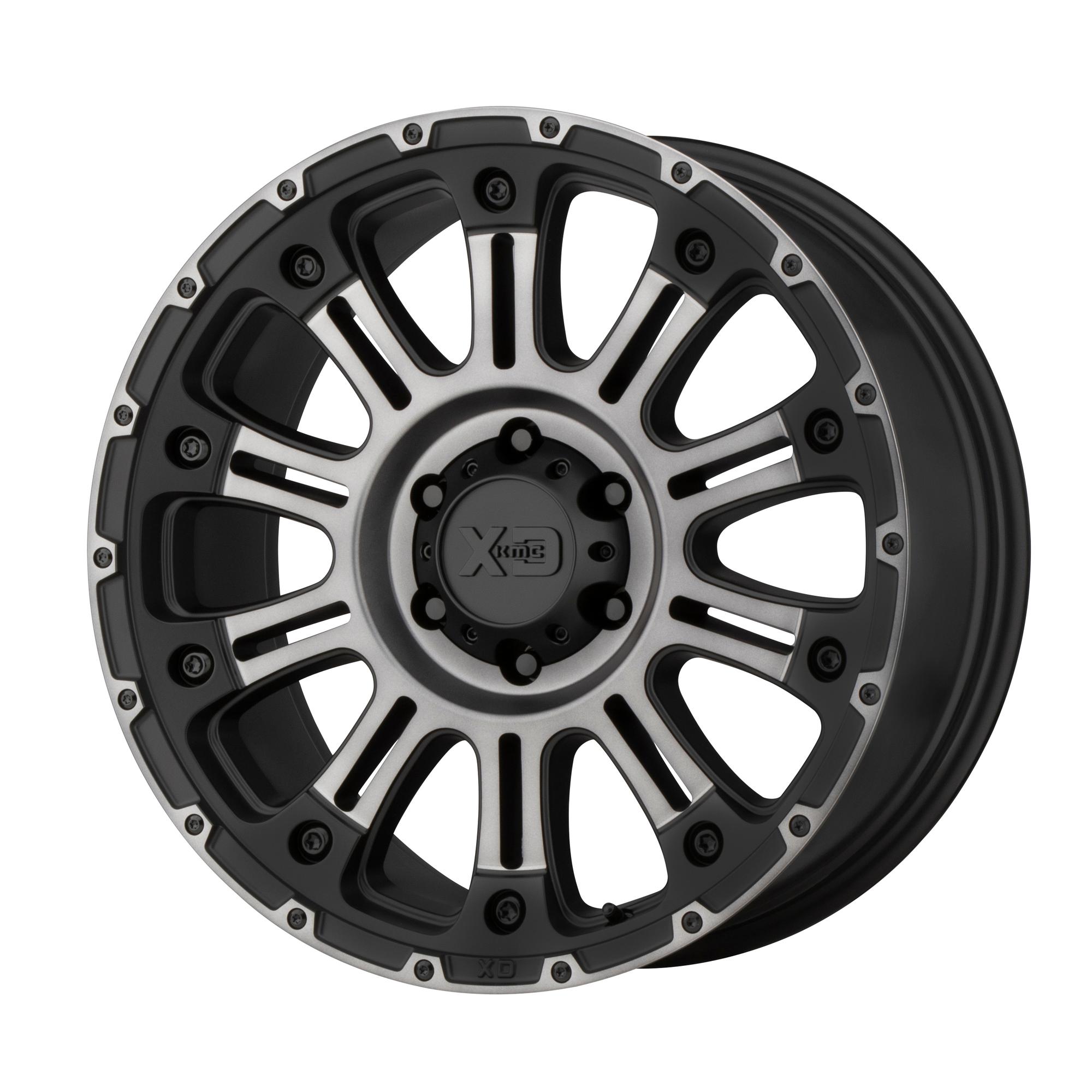 XD SERIES XD829 HOSS II hliníkové disky 9x18 8x165,1 ET0 Satin Black Machined Gray Tint