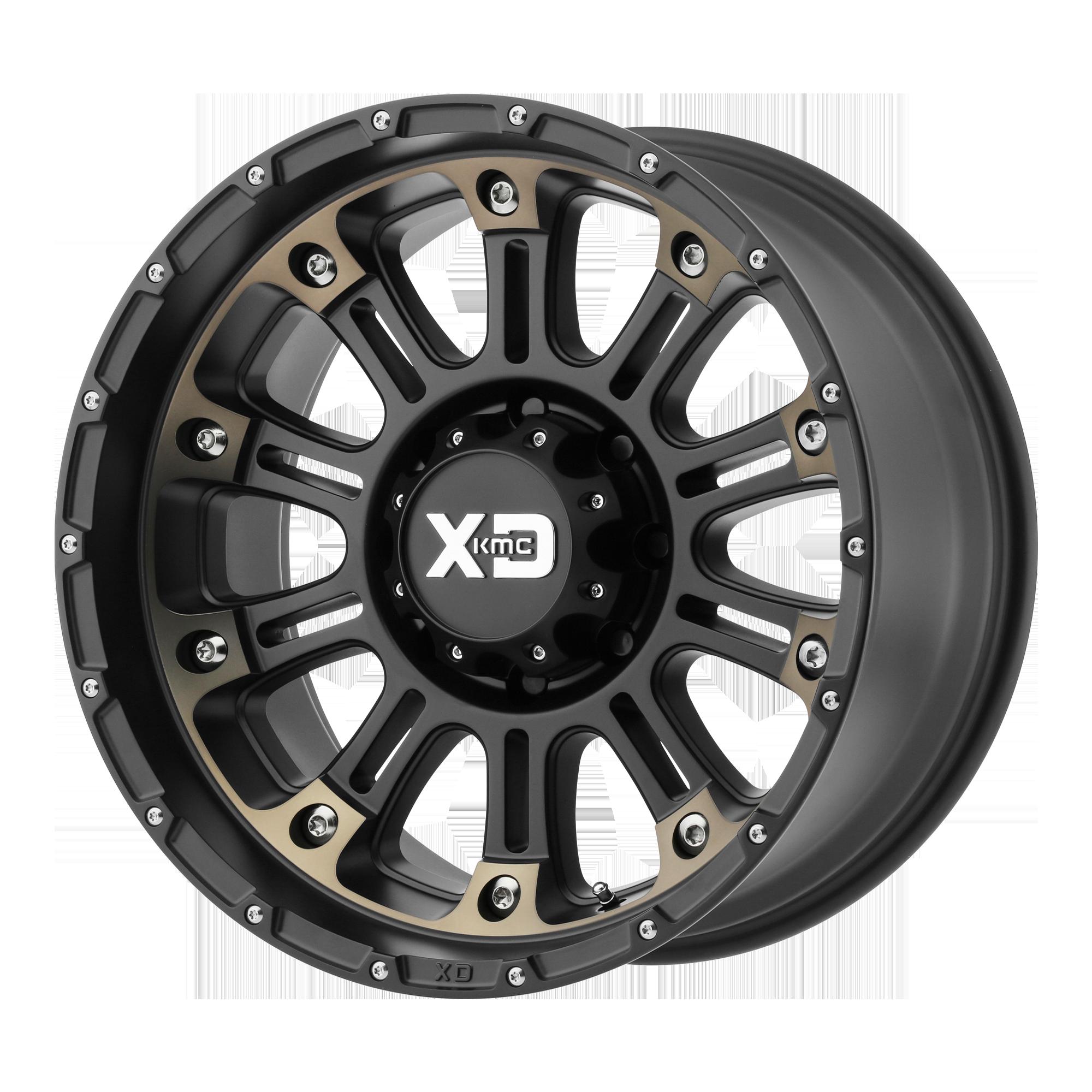XD SERIES XD829 HOSS II hliníkové disky 12x22 8x170 ET-44 Satin Black Machined Dark Tint