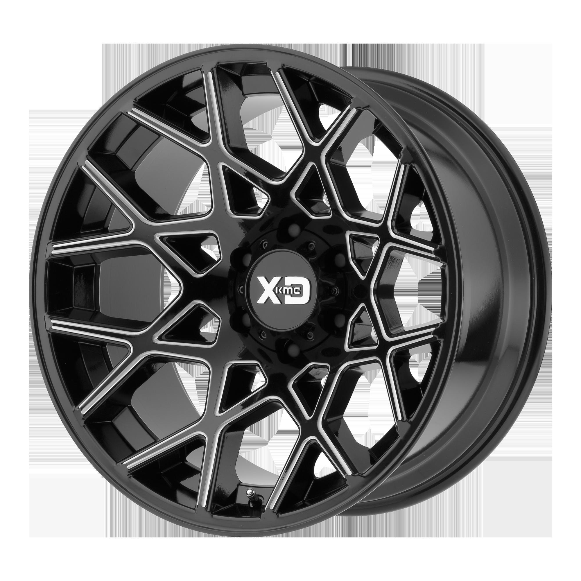 XD SERIES XD831 CHOPSTIX hliníkové disky 10x20 5x127 ET-24 Gloss Black Milled