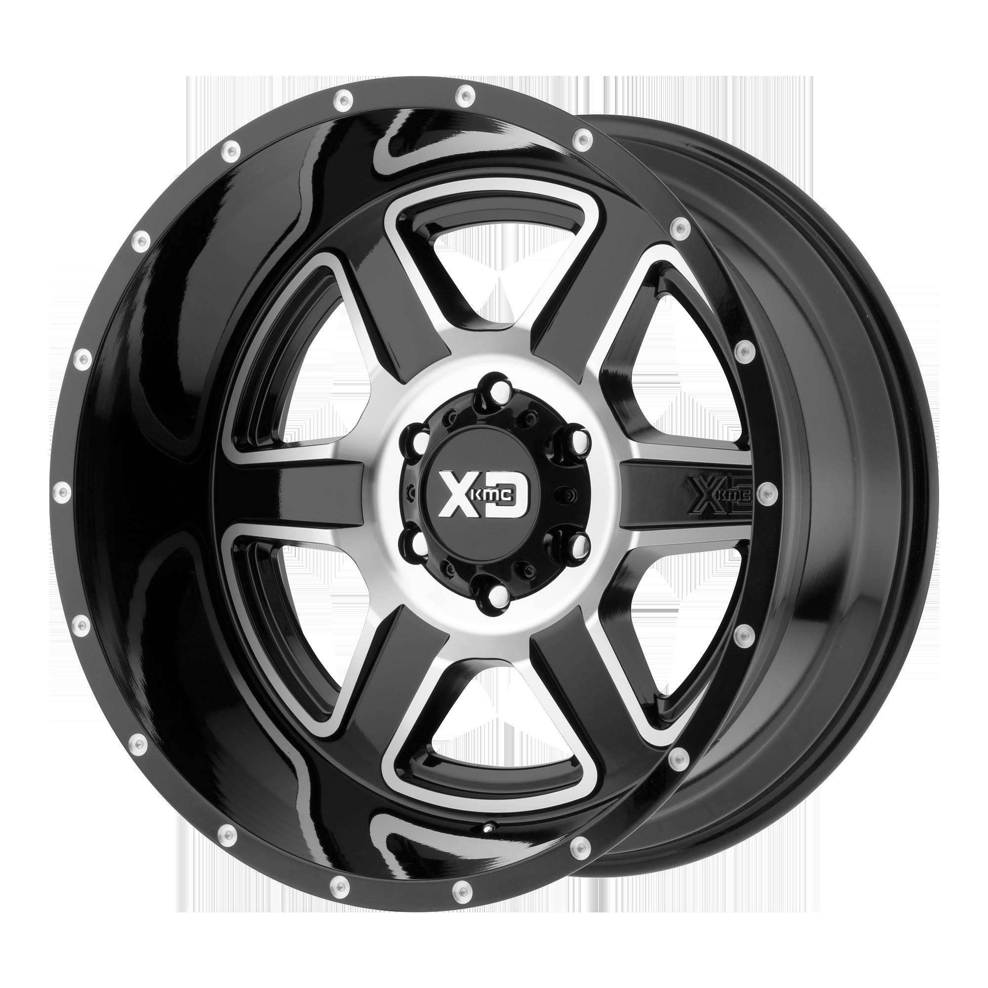 XD SERIES XD832 FUSION hliníkové disky 9x18 6x135 ET0 Gloss Black Machined