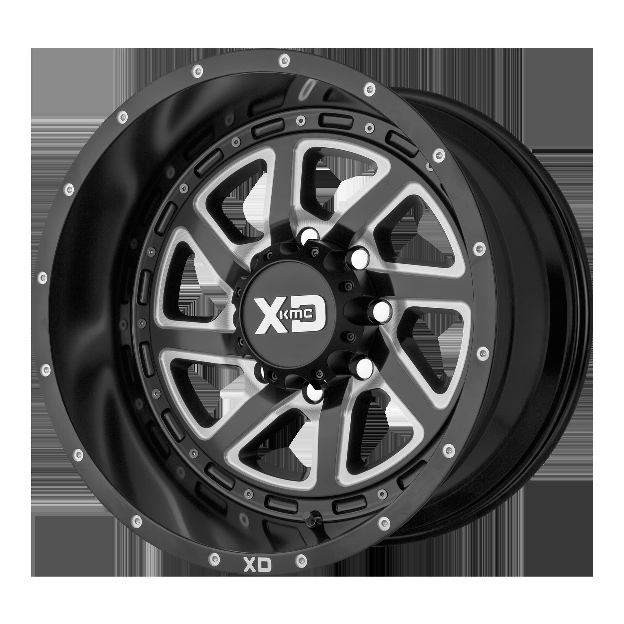 XD SERIES XD833 RECOIL hliníkové disky 9x17 6x139,7 ET-12 Satin Black Milled With Reversible Ring