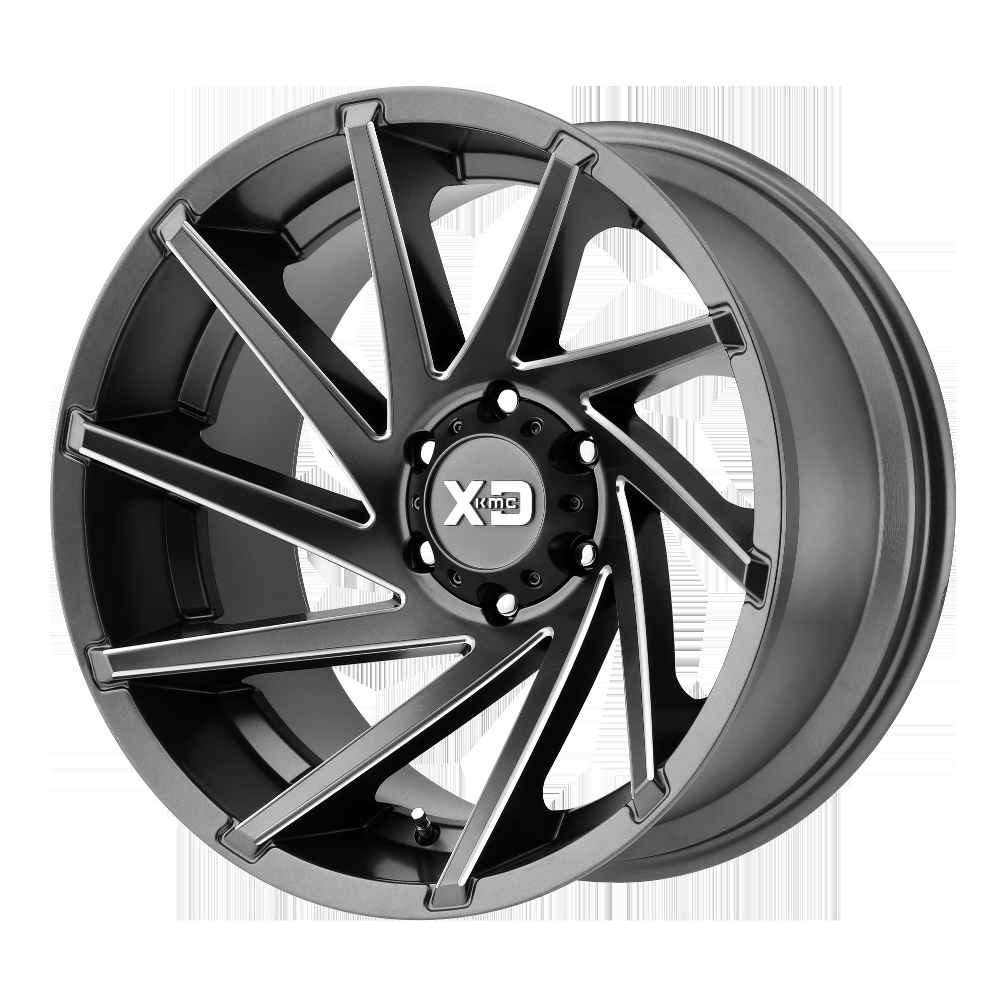 XD SERIES XD834 CYCLONE hliníkové disky 9x20 6x139,7 ET18 Satin Gray Milled