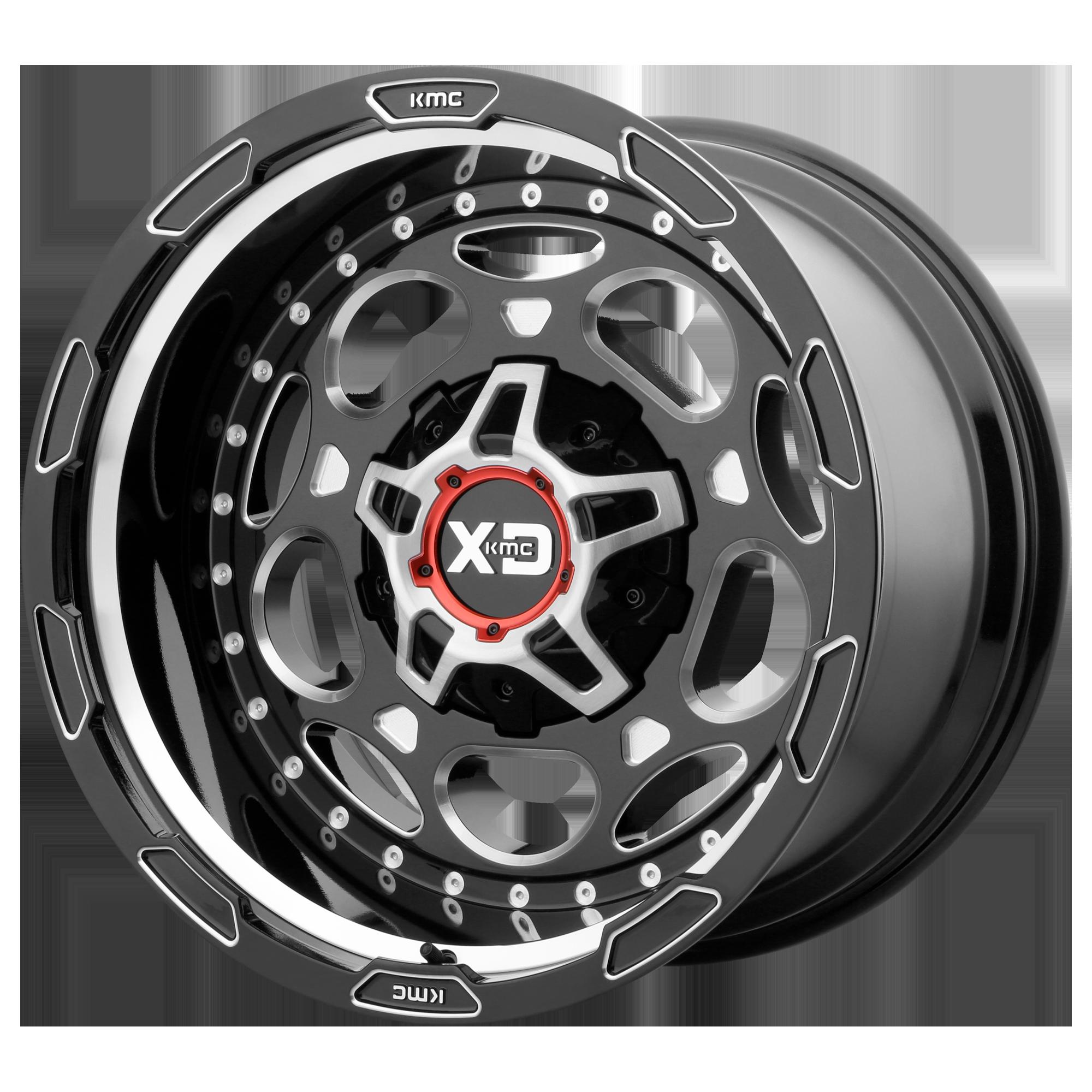 XD SERIES XD837 DEMODOG hliníkové disky 9x20 6x135 ET0 Gloss Black Milled