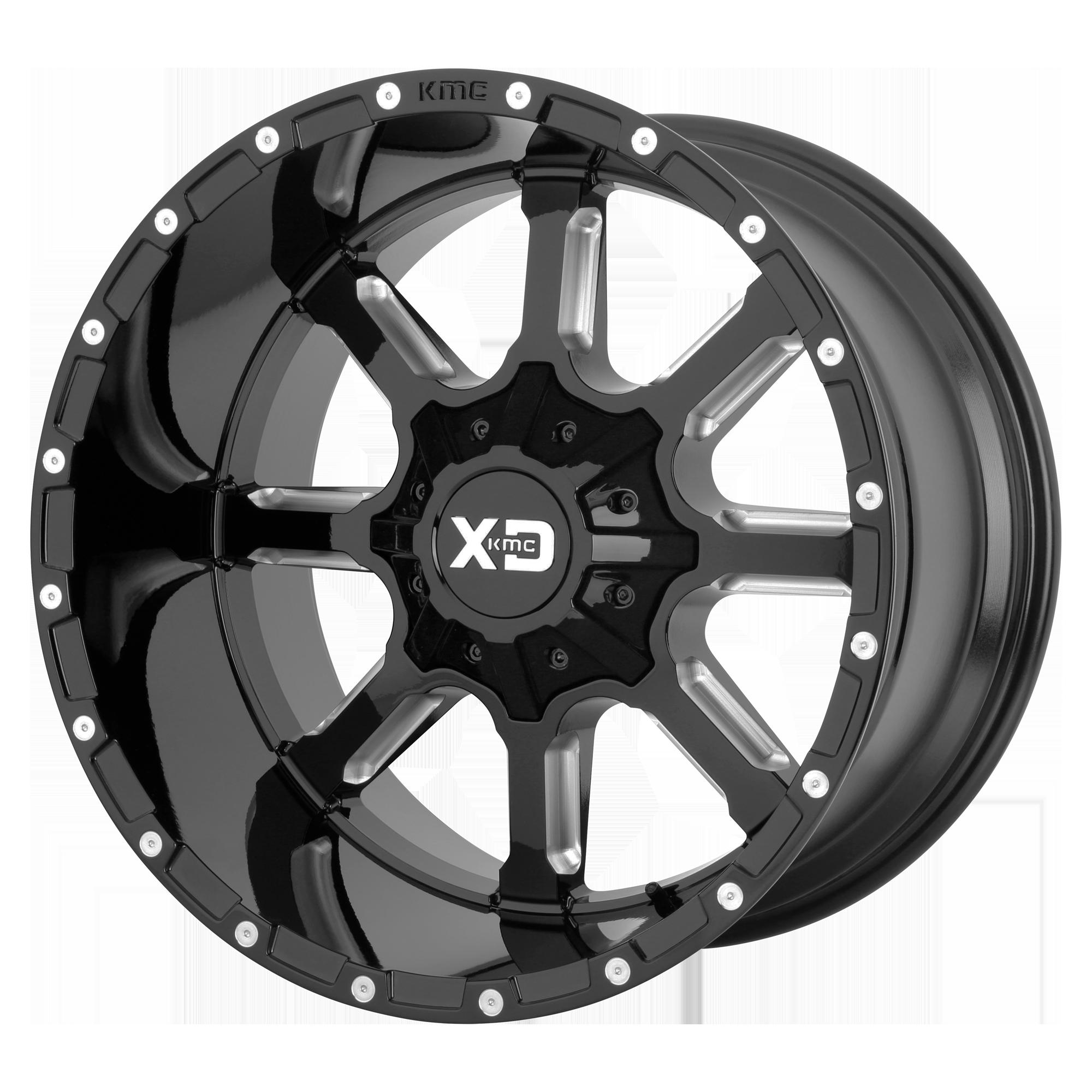 XD SERIES XD838 MAMMOTH hliníkové disky 10x20 5x139,7 ET-18 Gloss Black Milled